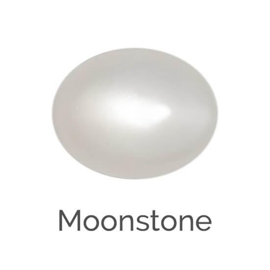 moonstone gem, white gem