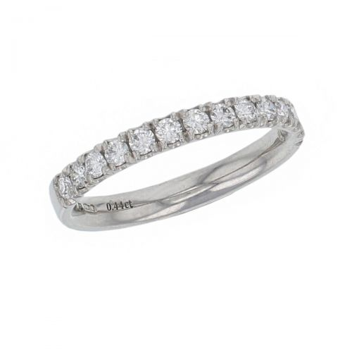 2.8mm wide platinum ladies round brilliant cut diamond eternity ring, diamond set wedding ring, woman's bridal, personalised engraving, court profile, comfort fit, precious jewellery by Faller of Derry/ Londonderry, jewelry, claw set
