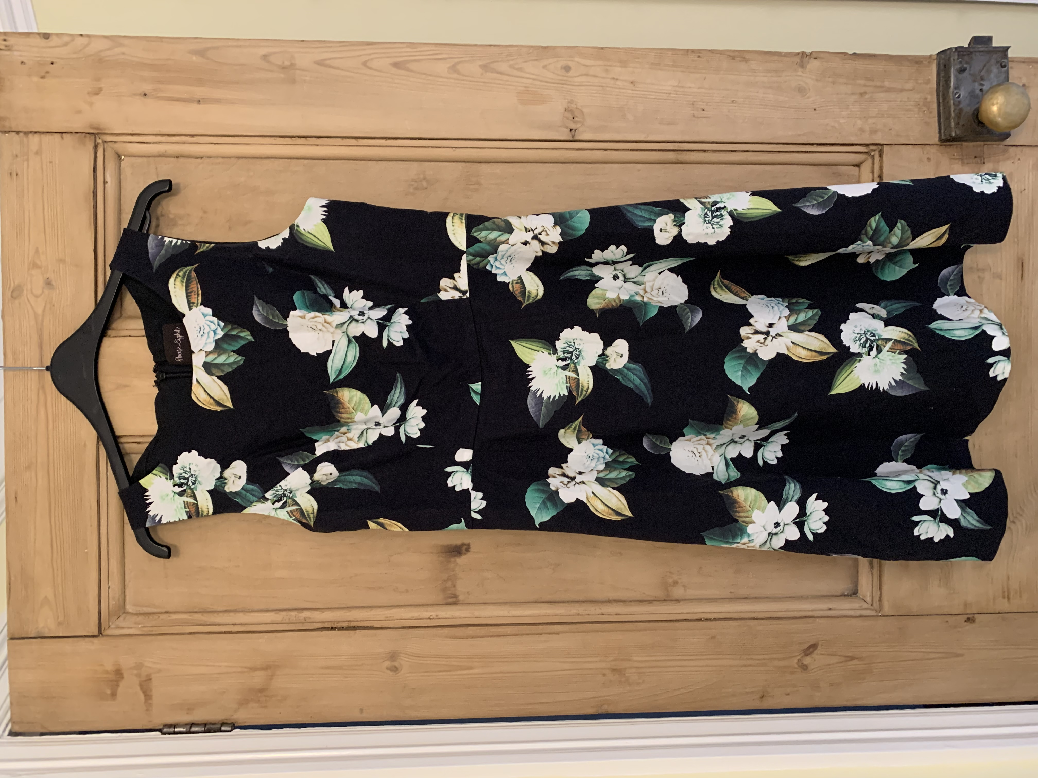 Image of Phase Eight Black floral dress