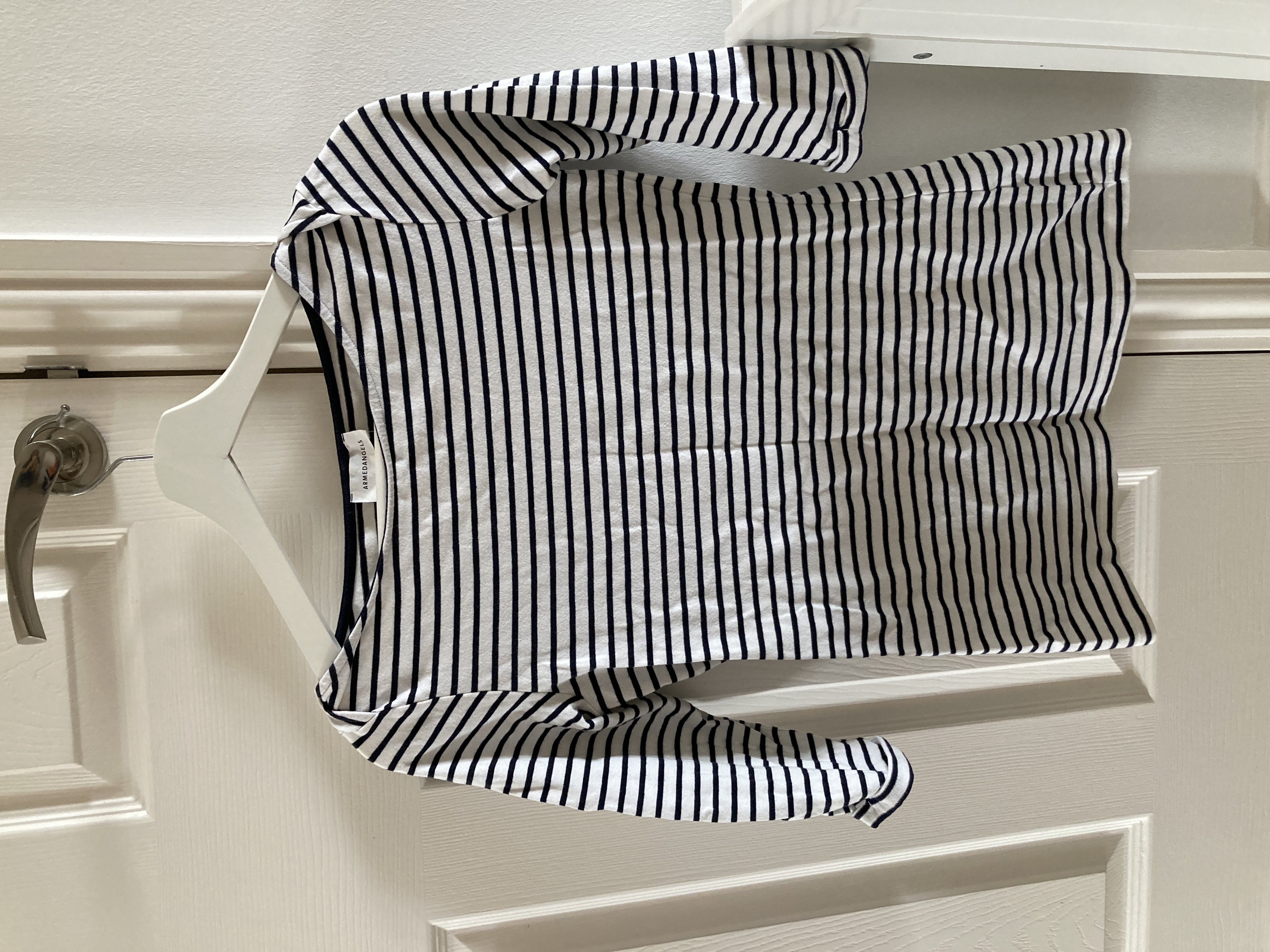 Image of Armedangels Dalenaa Stripes in Off White-Night Sky