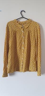 Image of Thought Mustard yellow spotty shirt