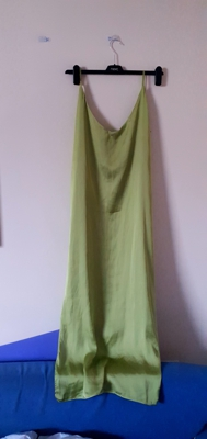 Image of Birdsong Chartreuse Green slip dress size 14