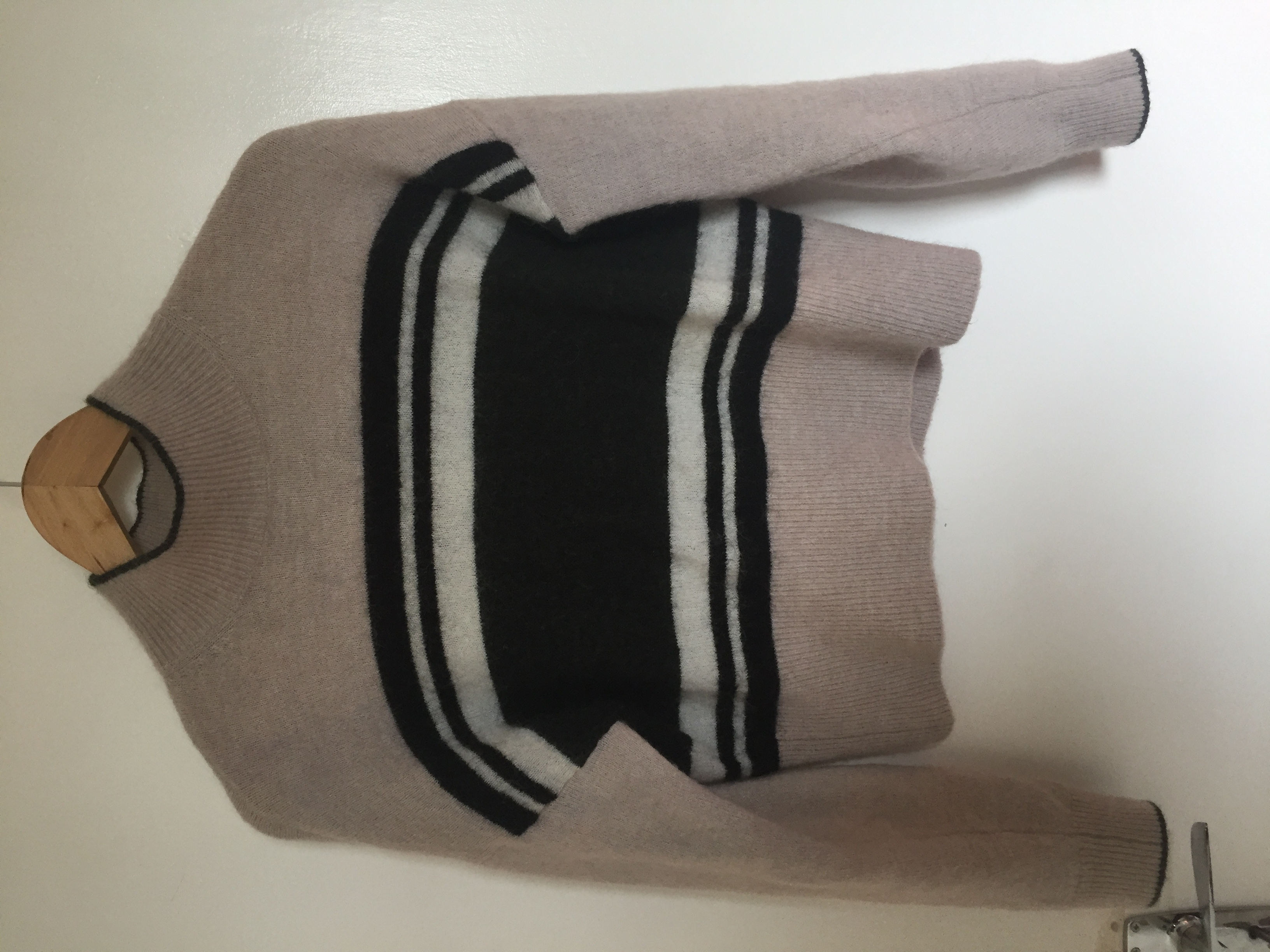 Image of & other storis Roll neck wool stripped jumper
