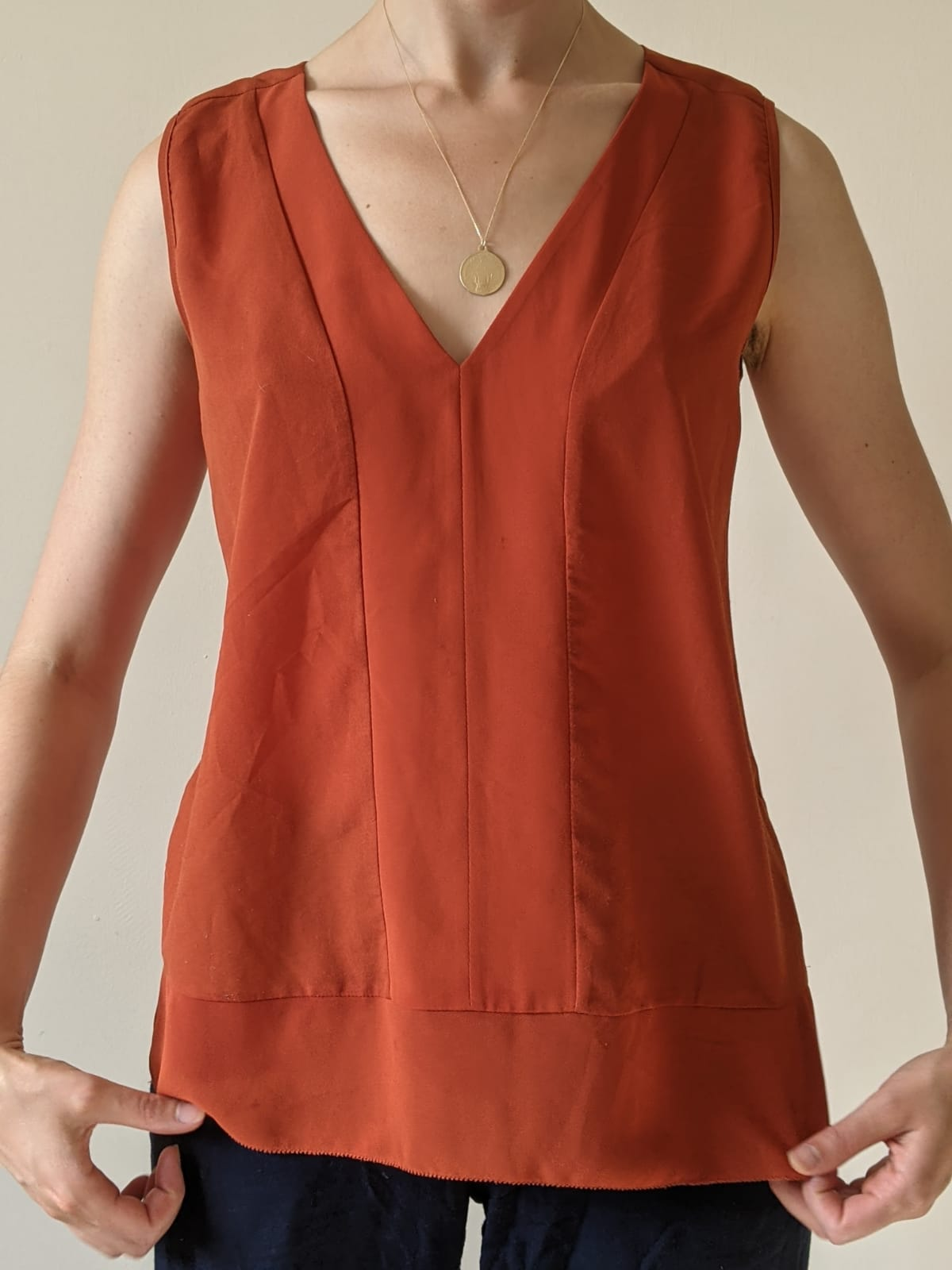 Image of French connection  French connection XS burnt orange sleeveless top