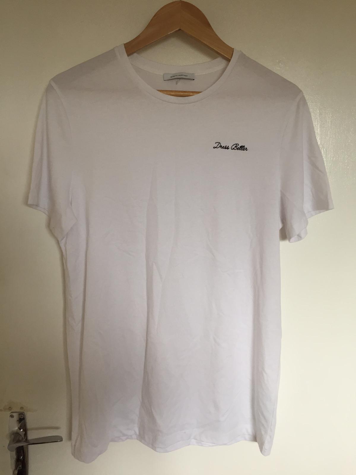 Image of Ninety percent Brand new Ninety percent White T shirt