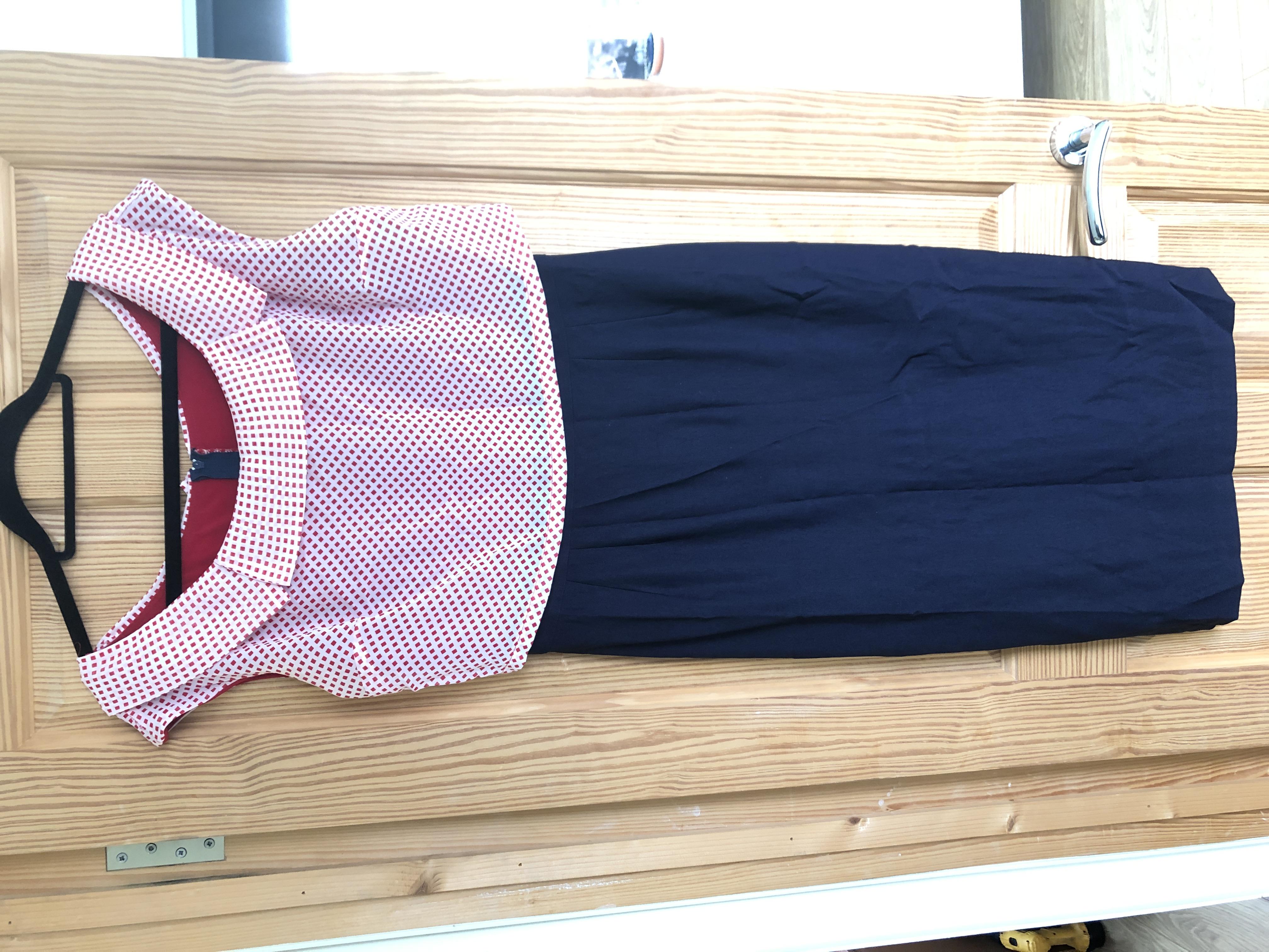 Image of Stop Staring Polka Dot Wiggle Dress