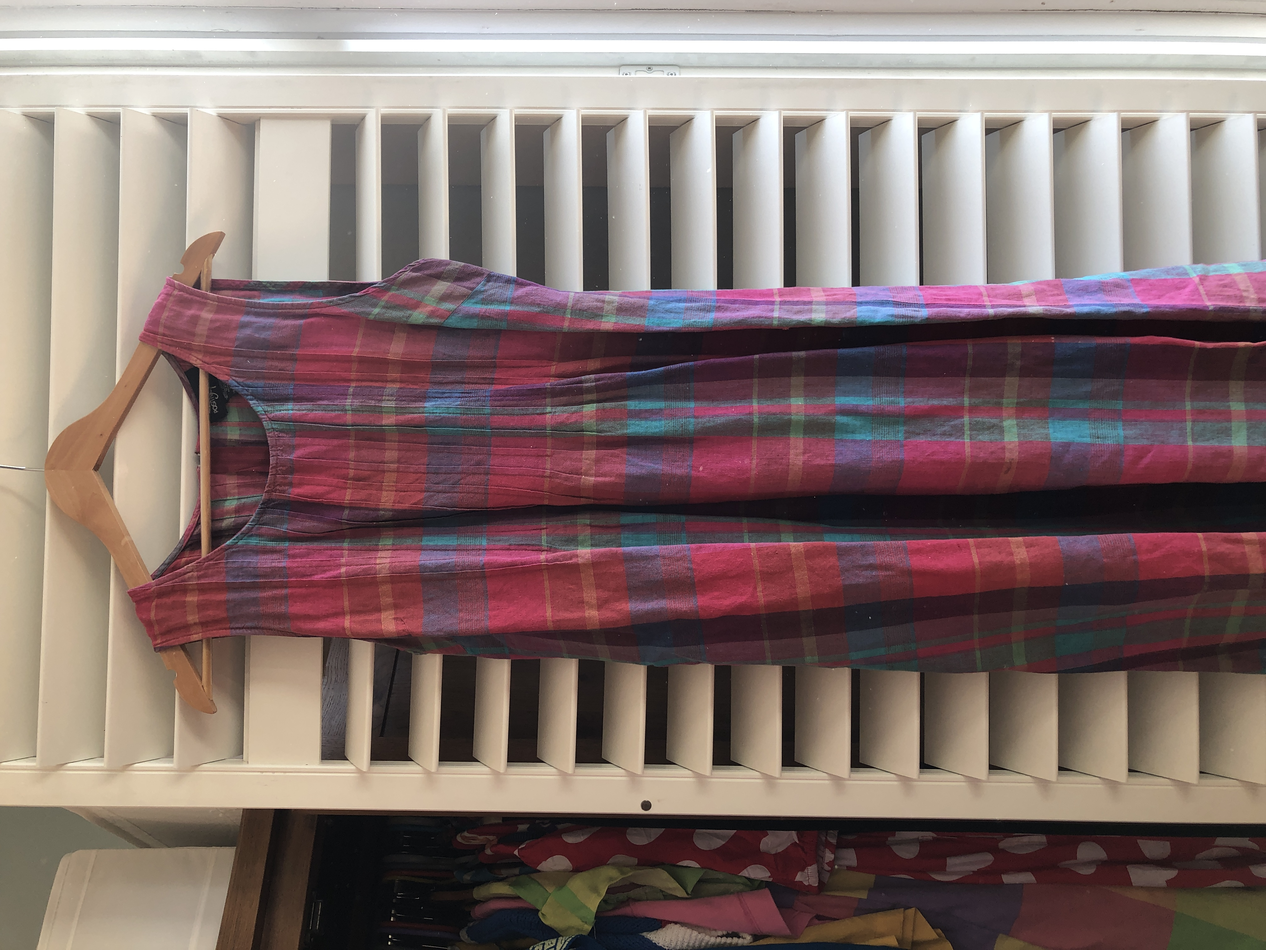 Image of Vintage Rainbow check summer dress