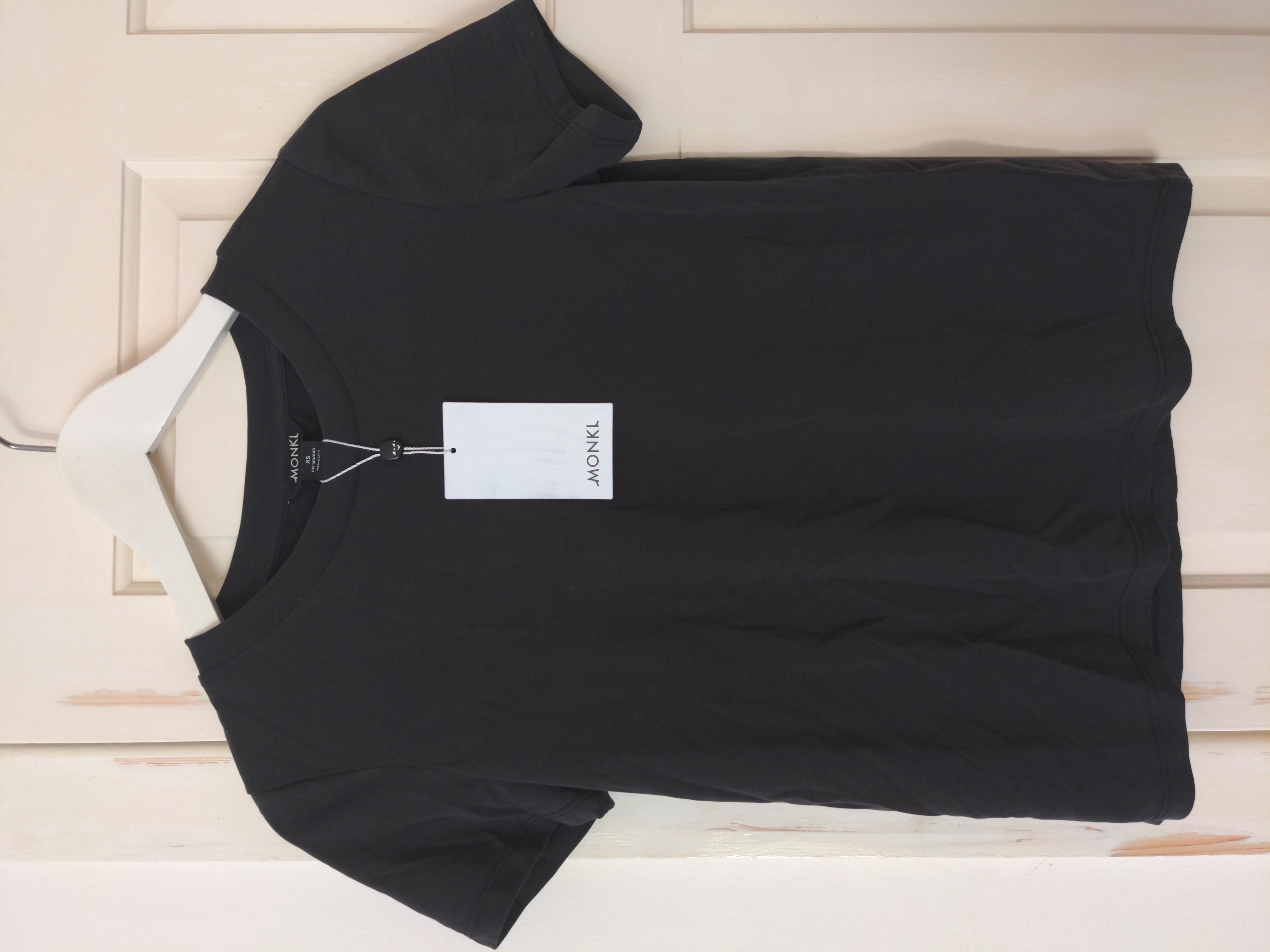 Image of Monki Brand New! Black Super Soft Modal T-Shirt