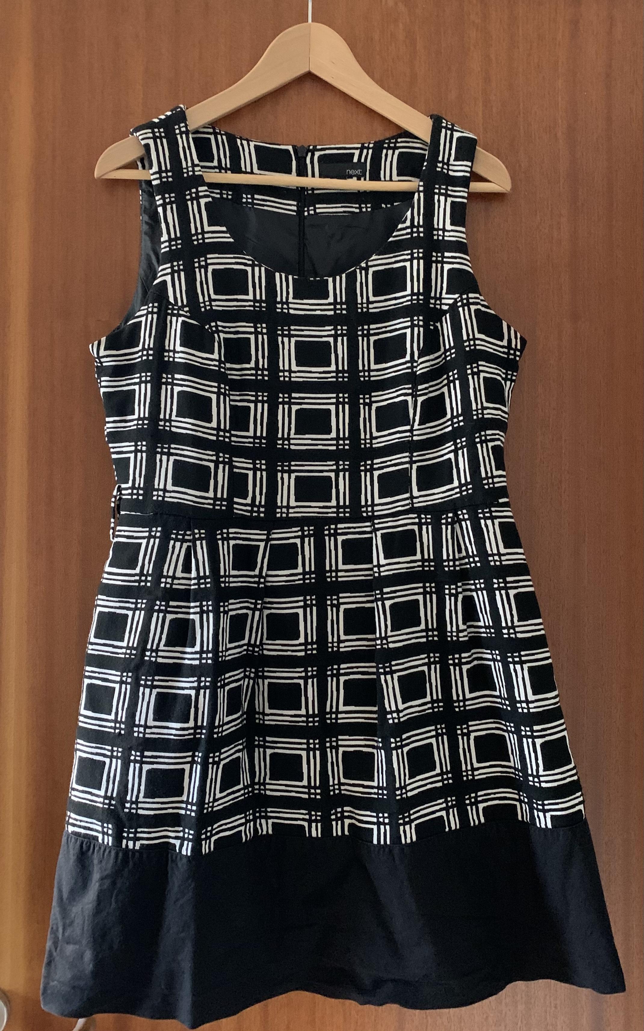 Image of Next  Black & White Dress