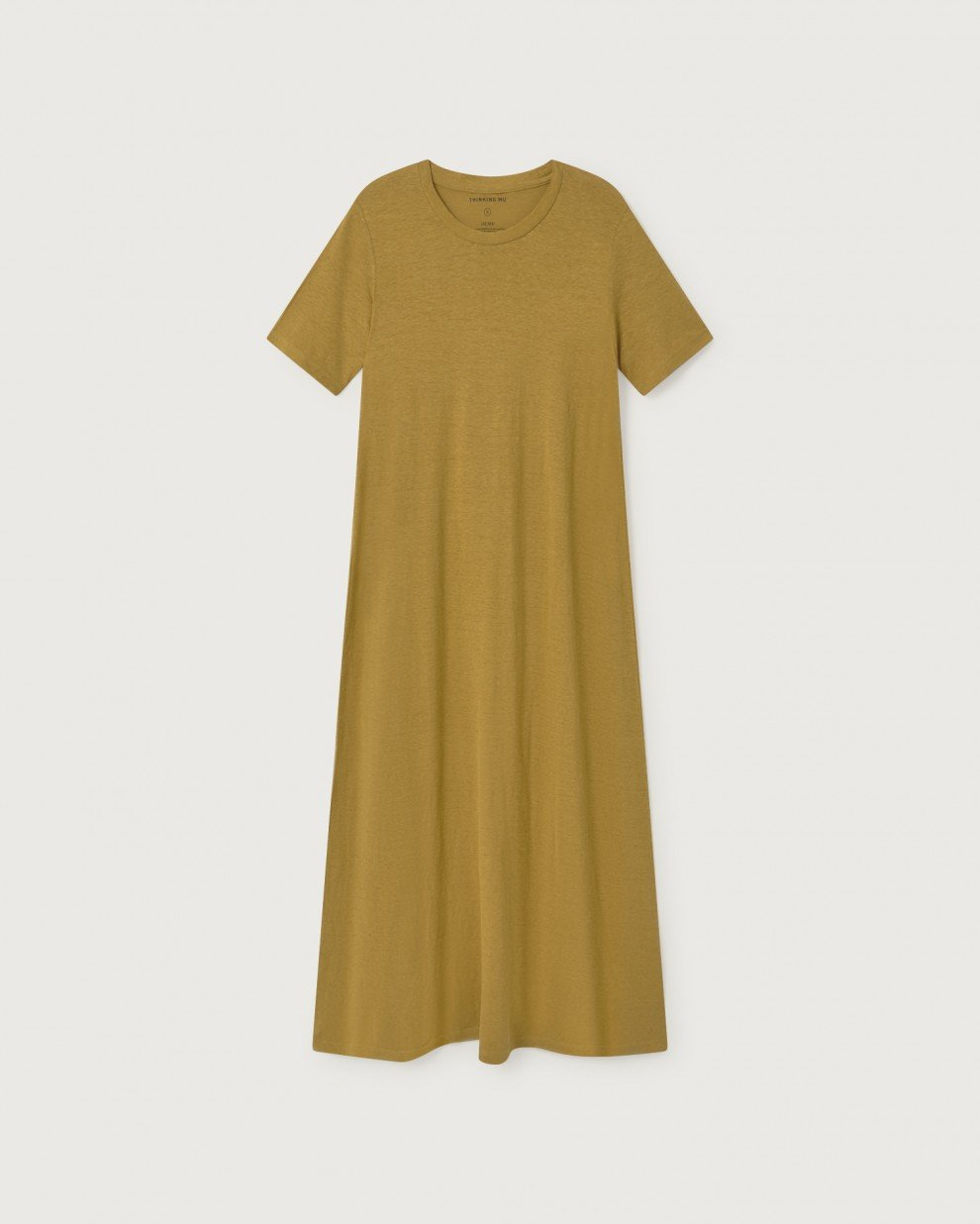 Image of Thinking Mu  Oueme Hemp Dress in Mustard