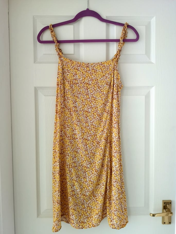 Image of & Other Stories  Yellow Floral Mini Dress