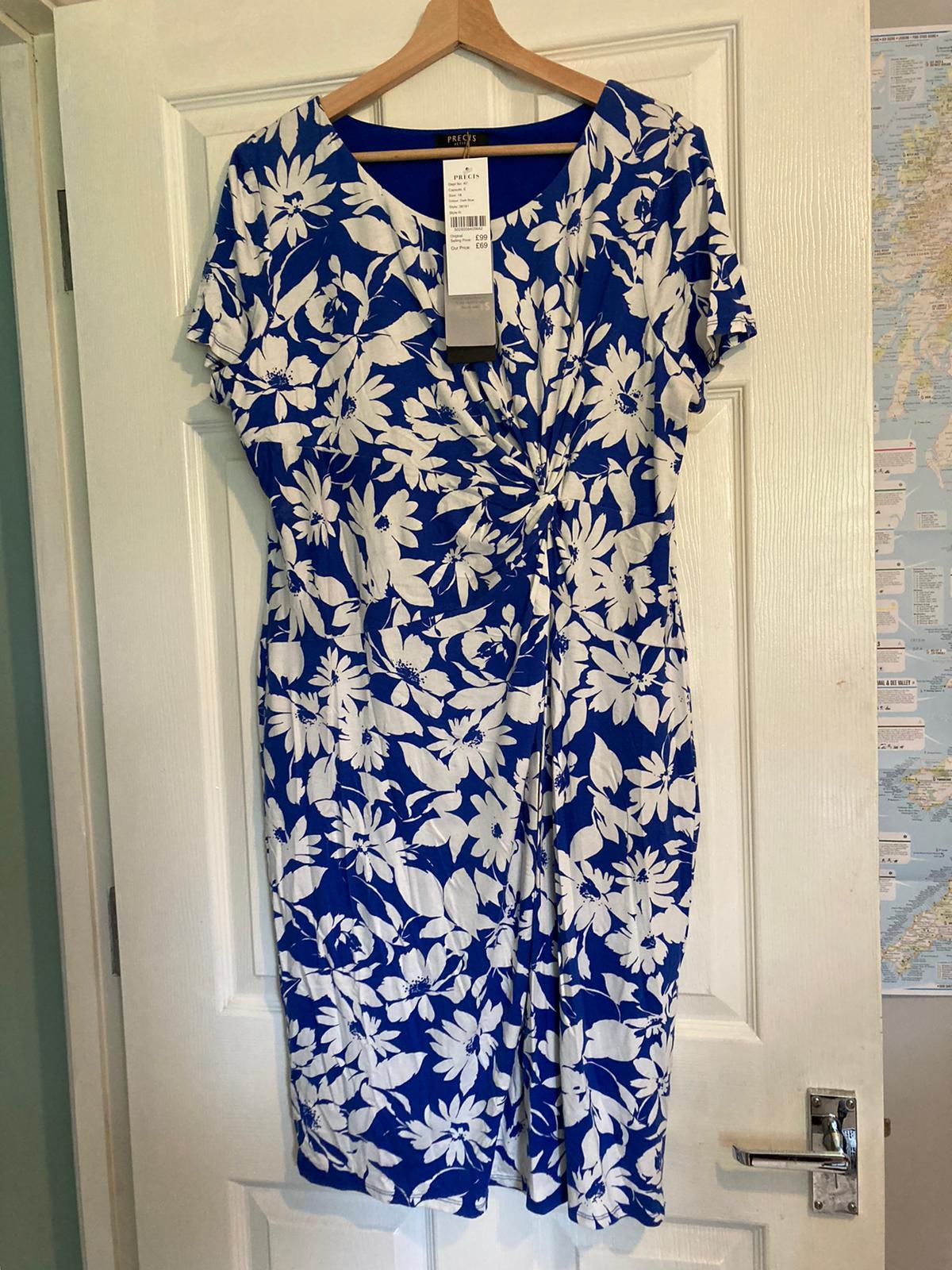 Image of Precis petite Dark blue dress