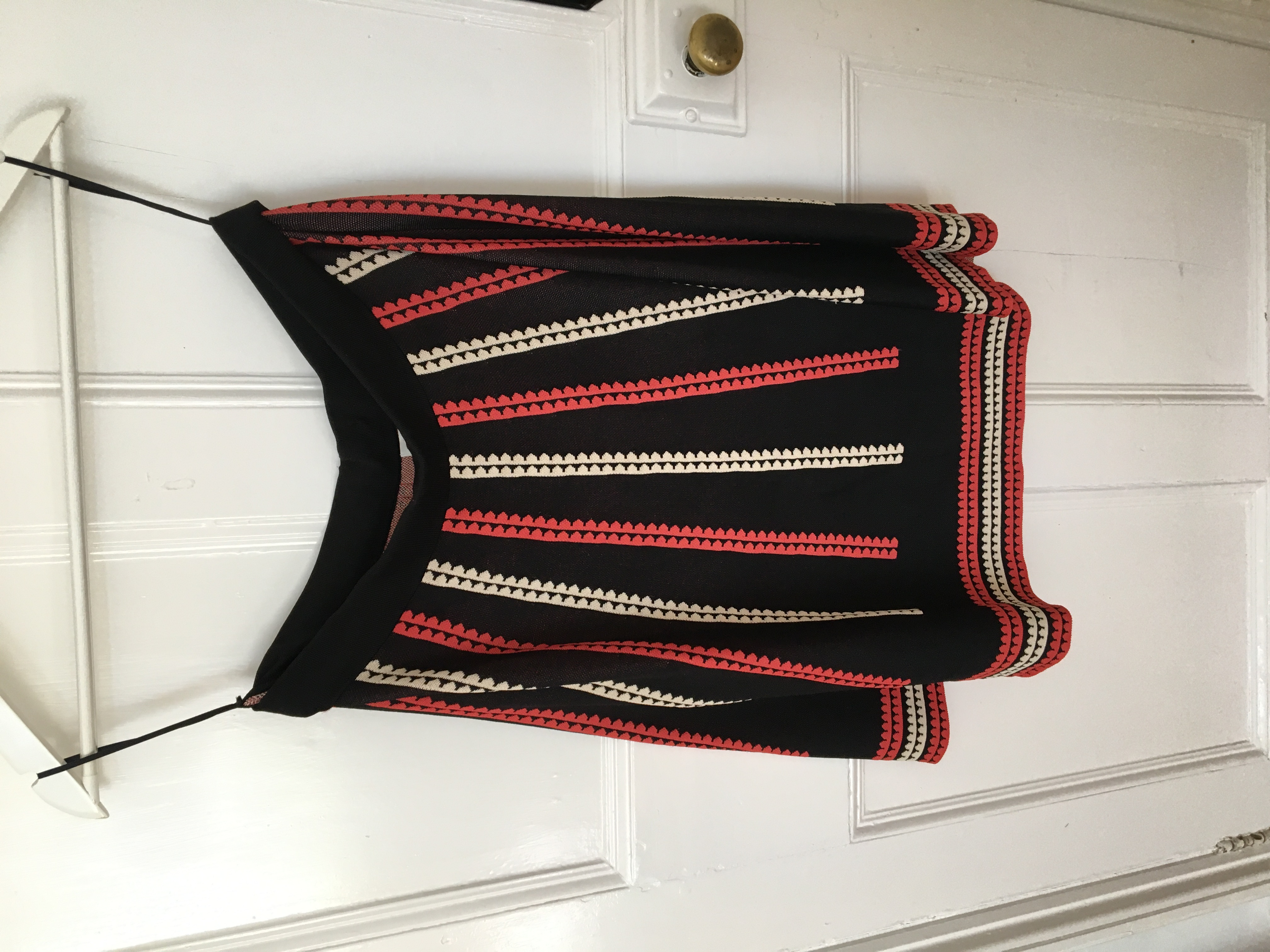Image of Somerset by Alison Temperley Flared stretch pattern skirt
