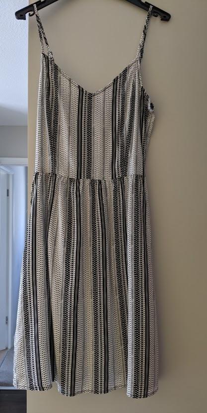 Image of H&M Black and White Sun Dress