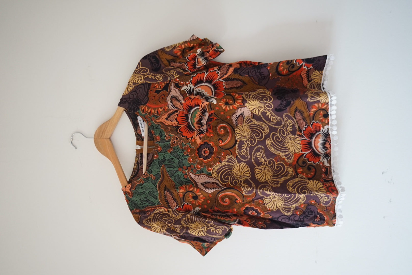 Image of Glamorous Paisley Pattern Multicolour Summer Blouse T-shirt