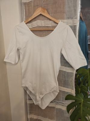 Image of People Tree Nicole Bodysuit in White