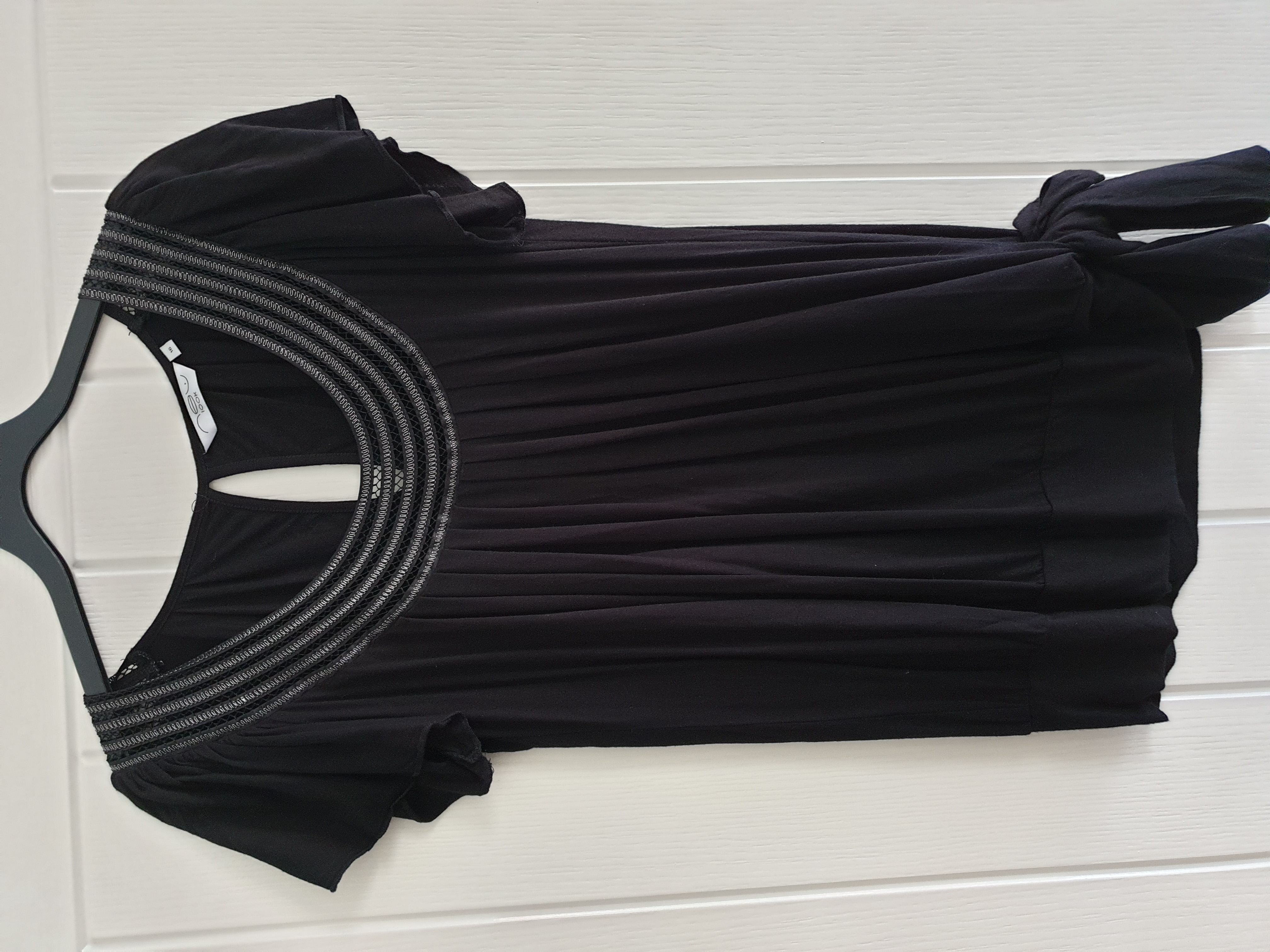 Image of New Look Black Short Sleeved Top size 16
