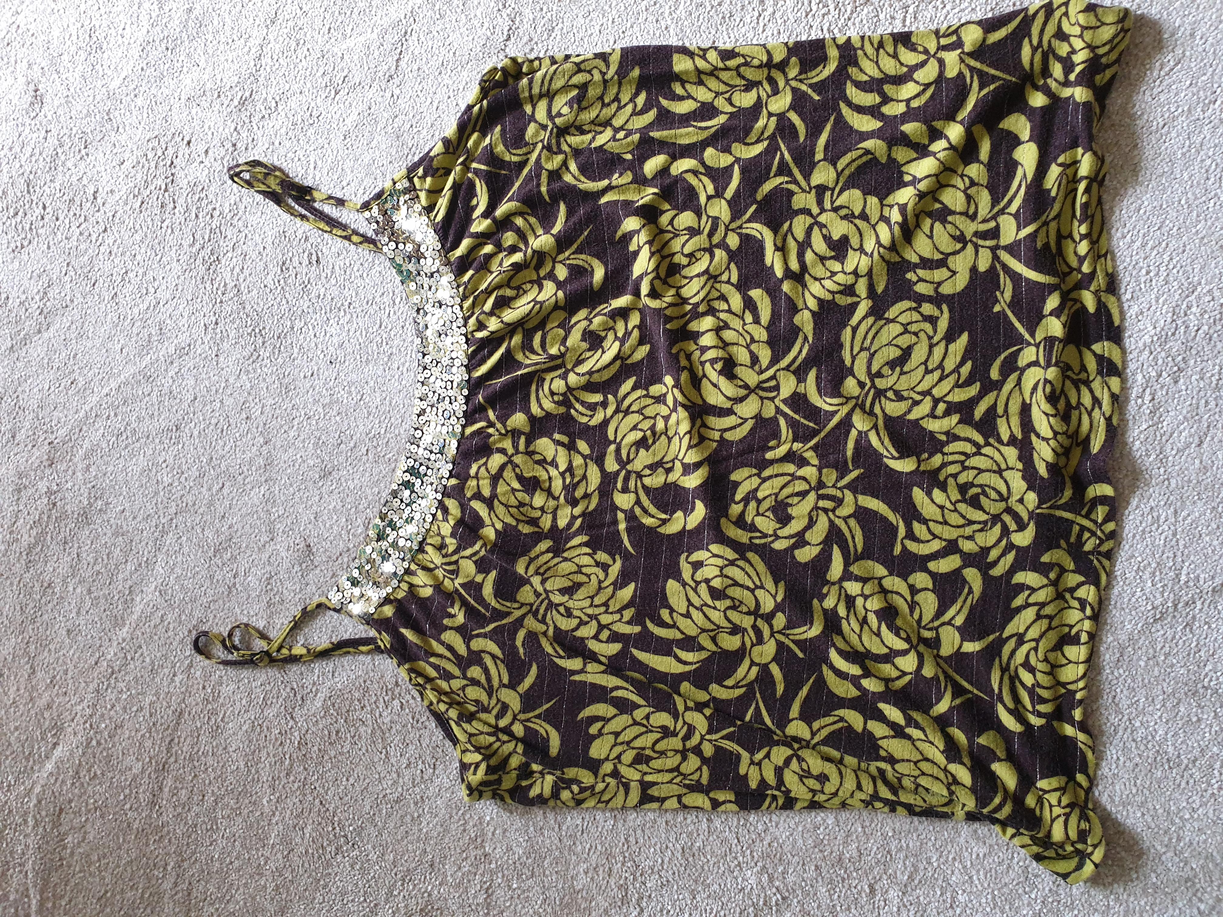 Image of Monsoon Embellished vest top size 18