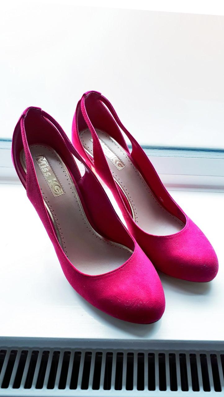 Image of Miss KG Suedette heels in hot pink / fuschia size 7.5UK/41EUR