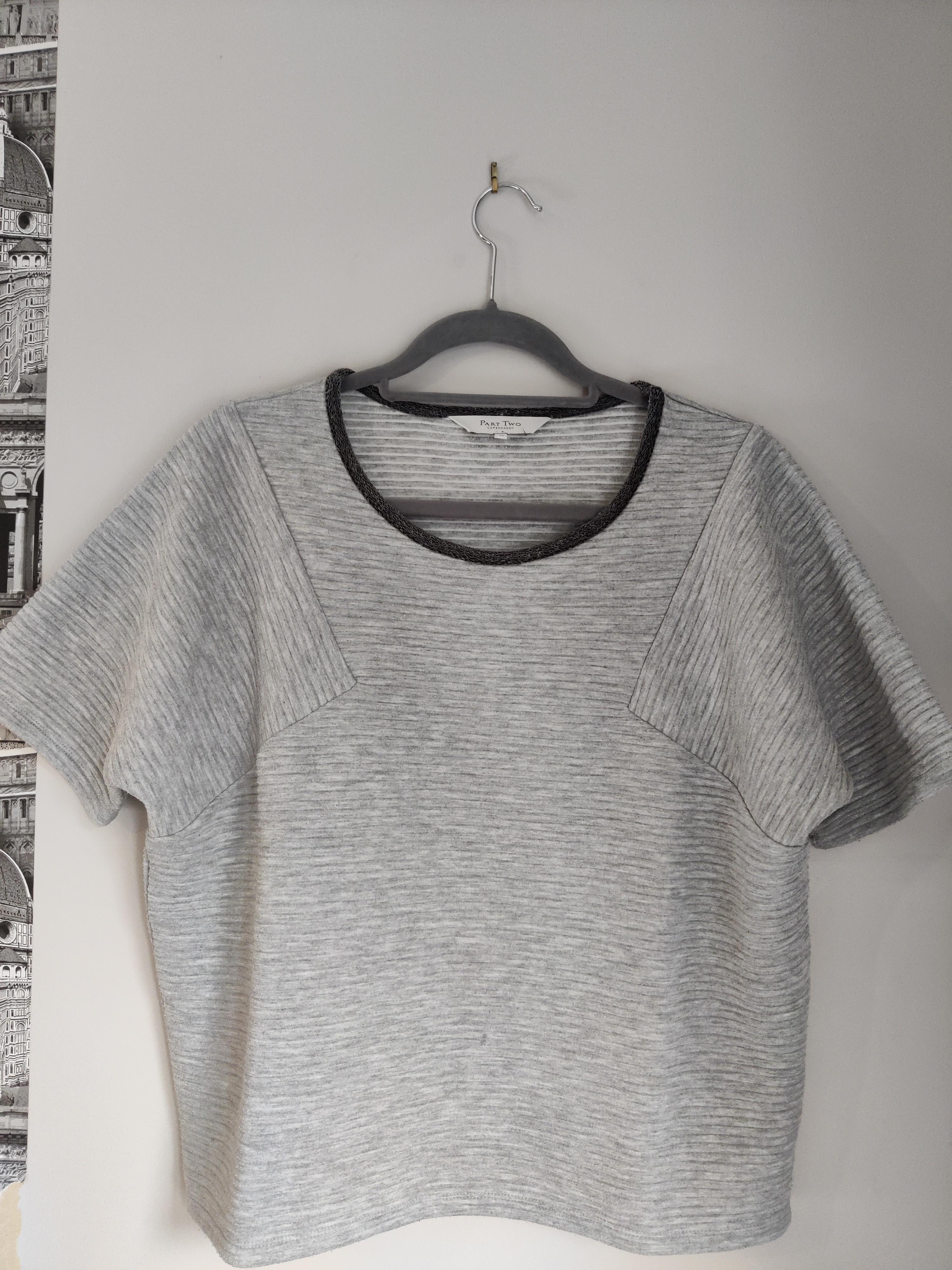 Image of Part Two Copenhagen Grey ribbed box t-shirt