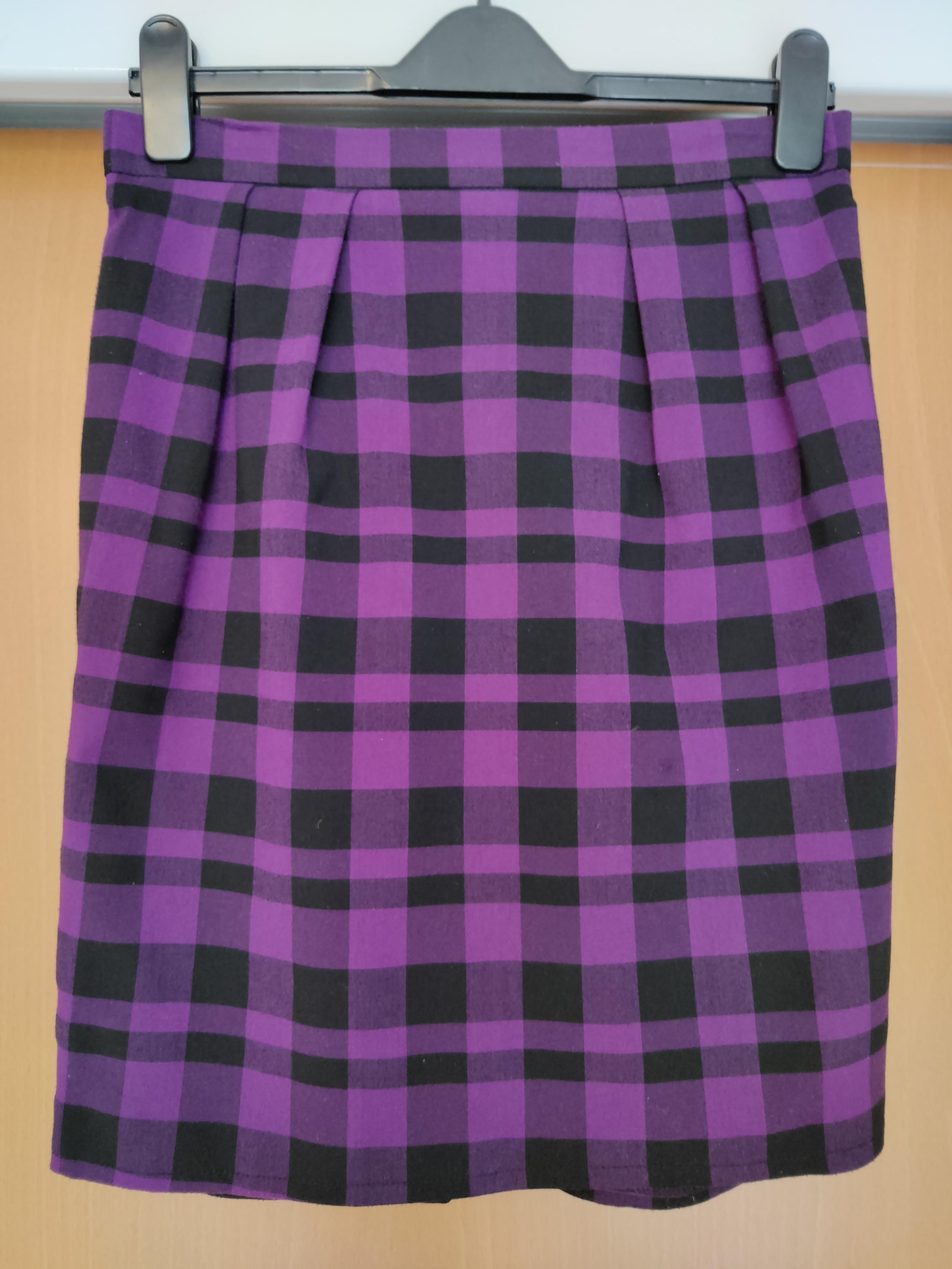 Image of Topshop Check pencil skirt