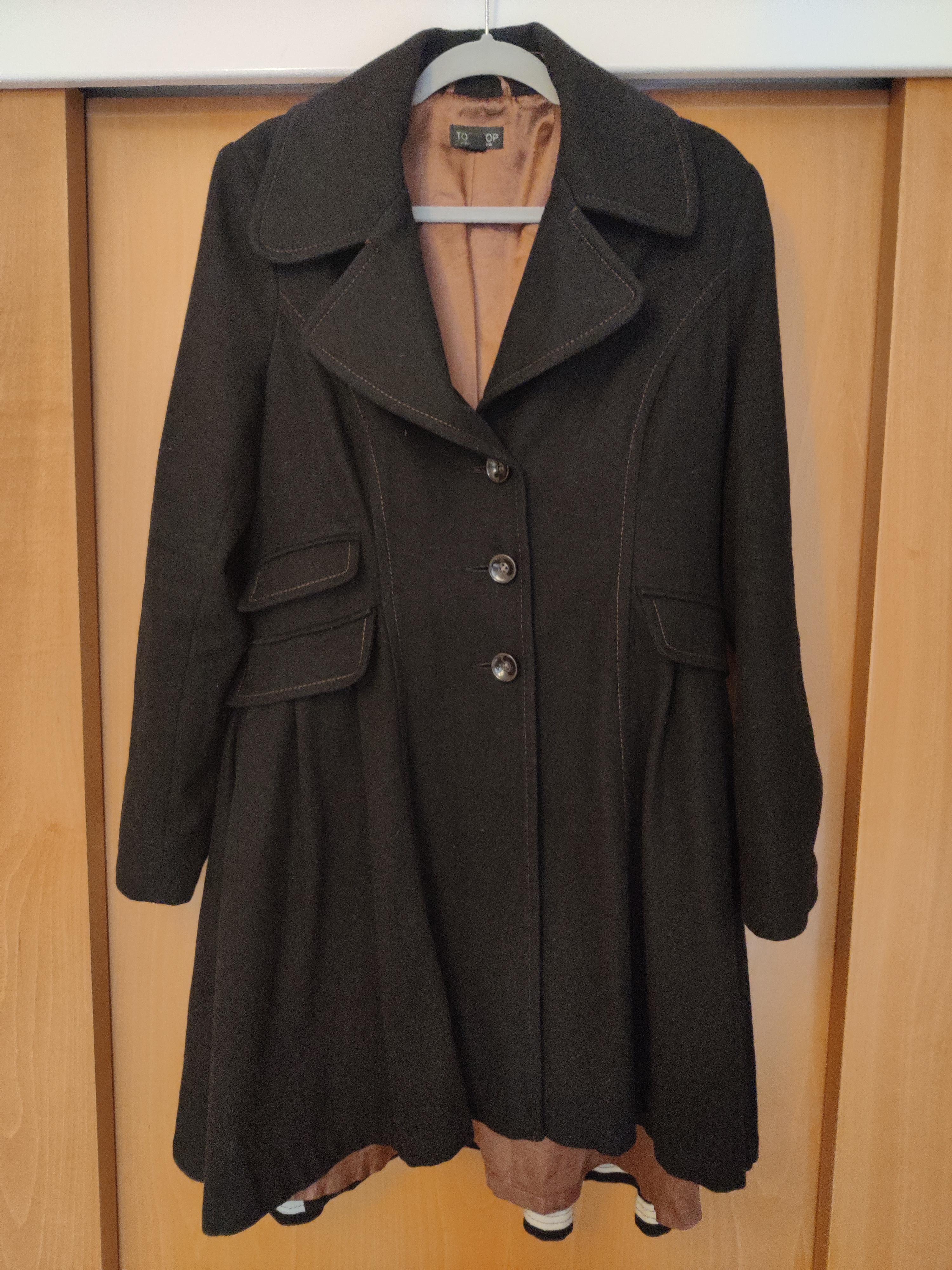 Image of Topshop Black frock coat