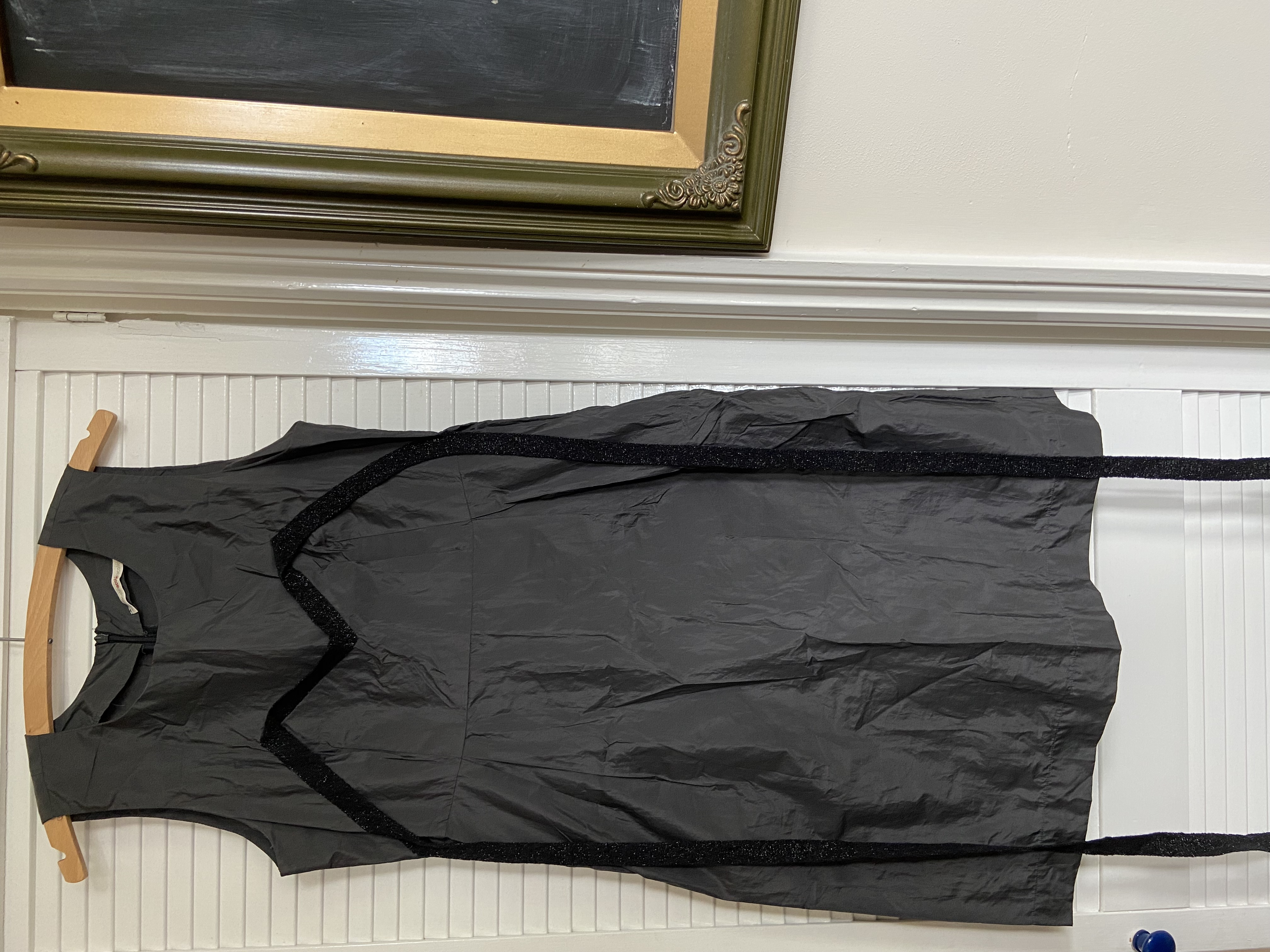 Image of A Coté Dark grey dress with bust ribbon detail