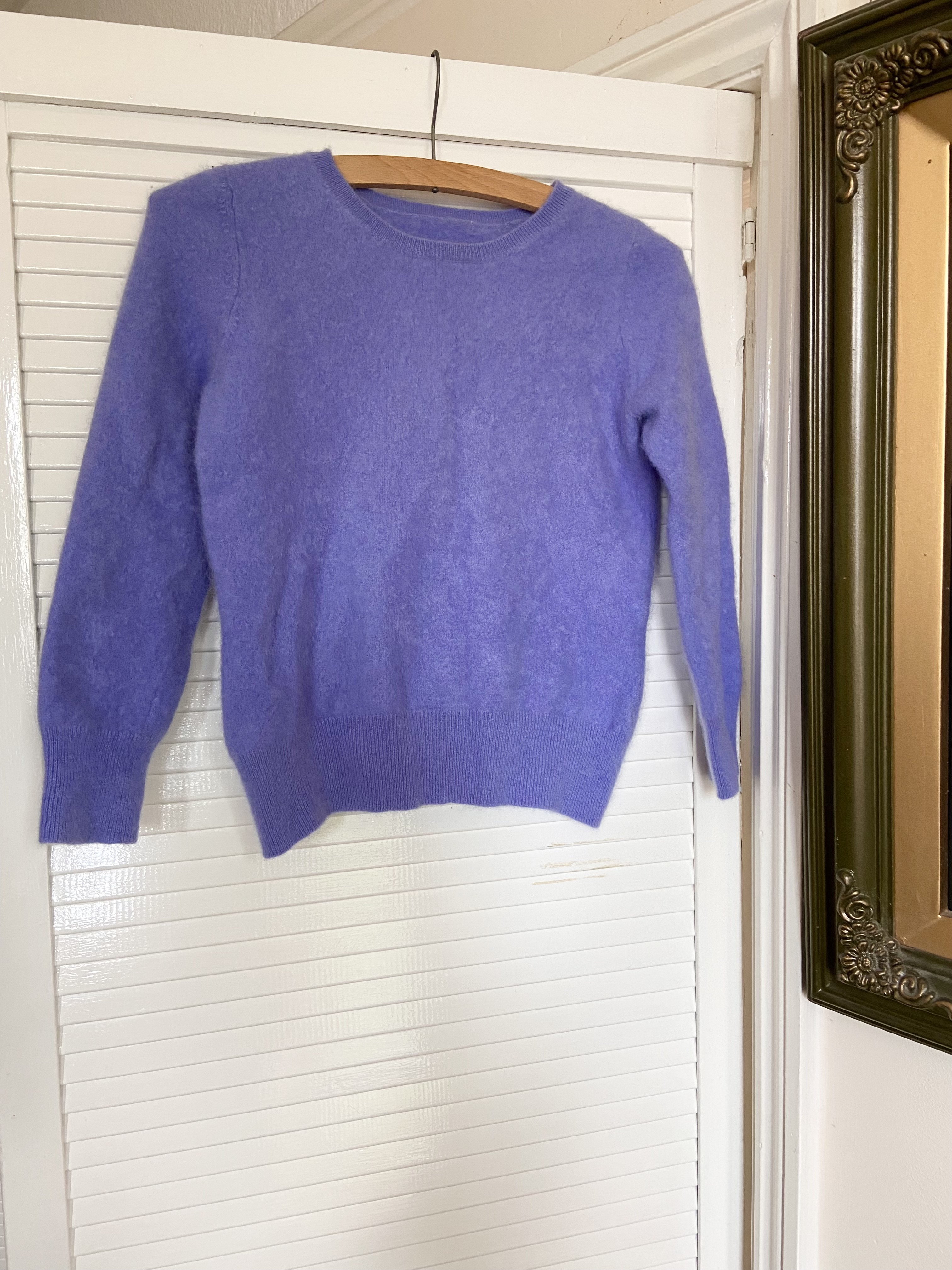 Image of Vintage Lilac cashmere cropped jumper
