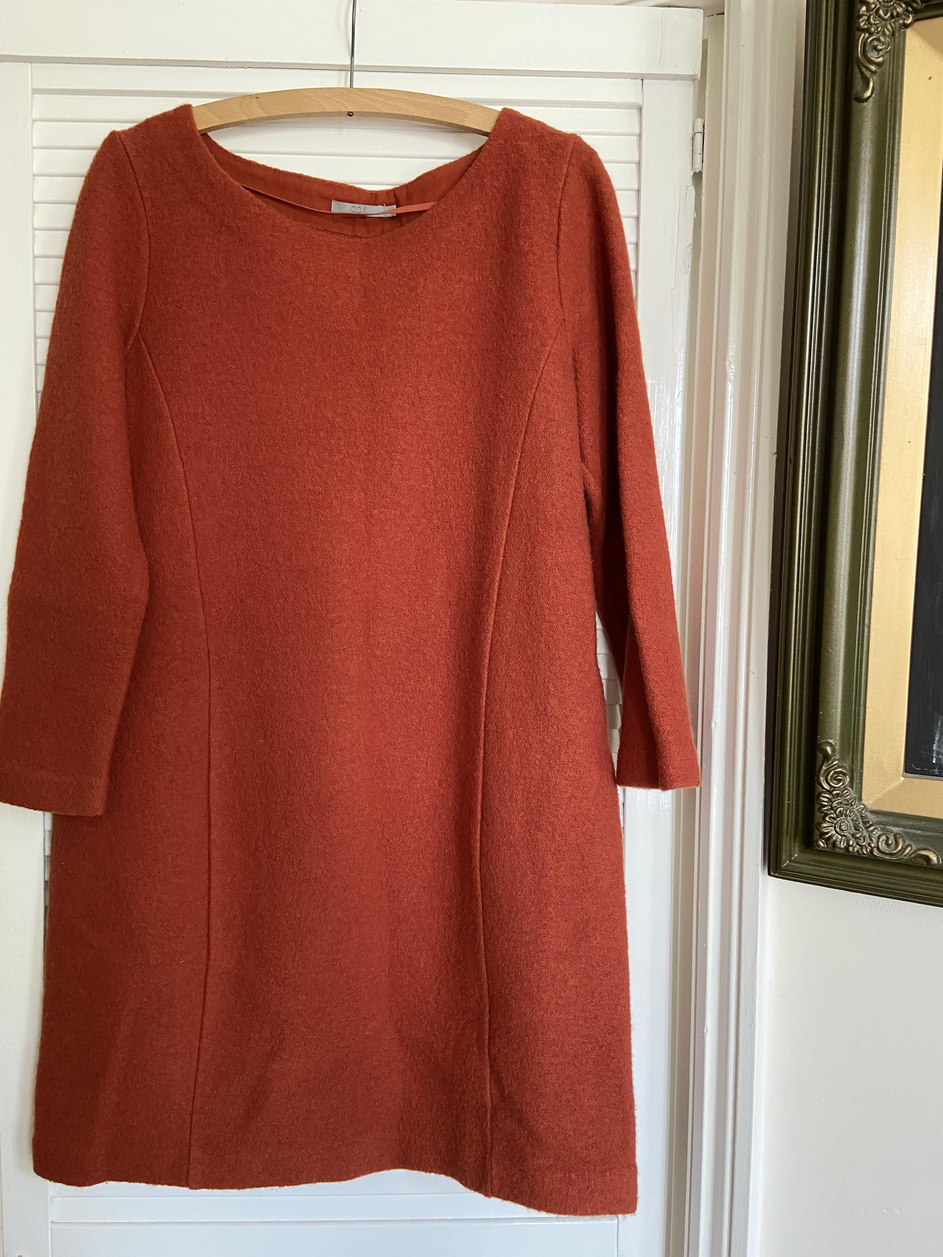 Image of Cos Orange woollen dress
