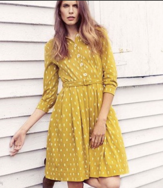 Image of People Tree Size 12- Belted shirt dress