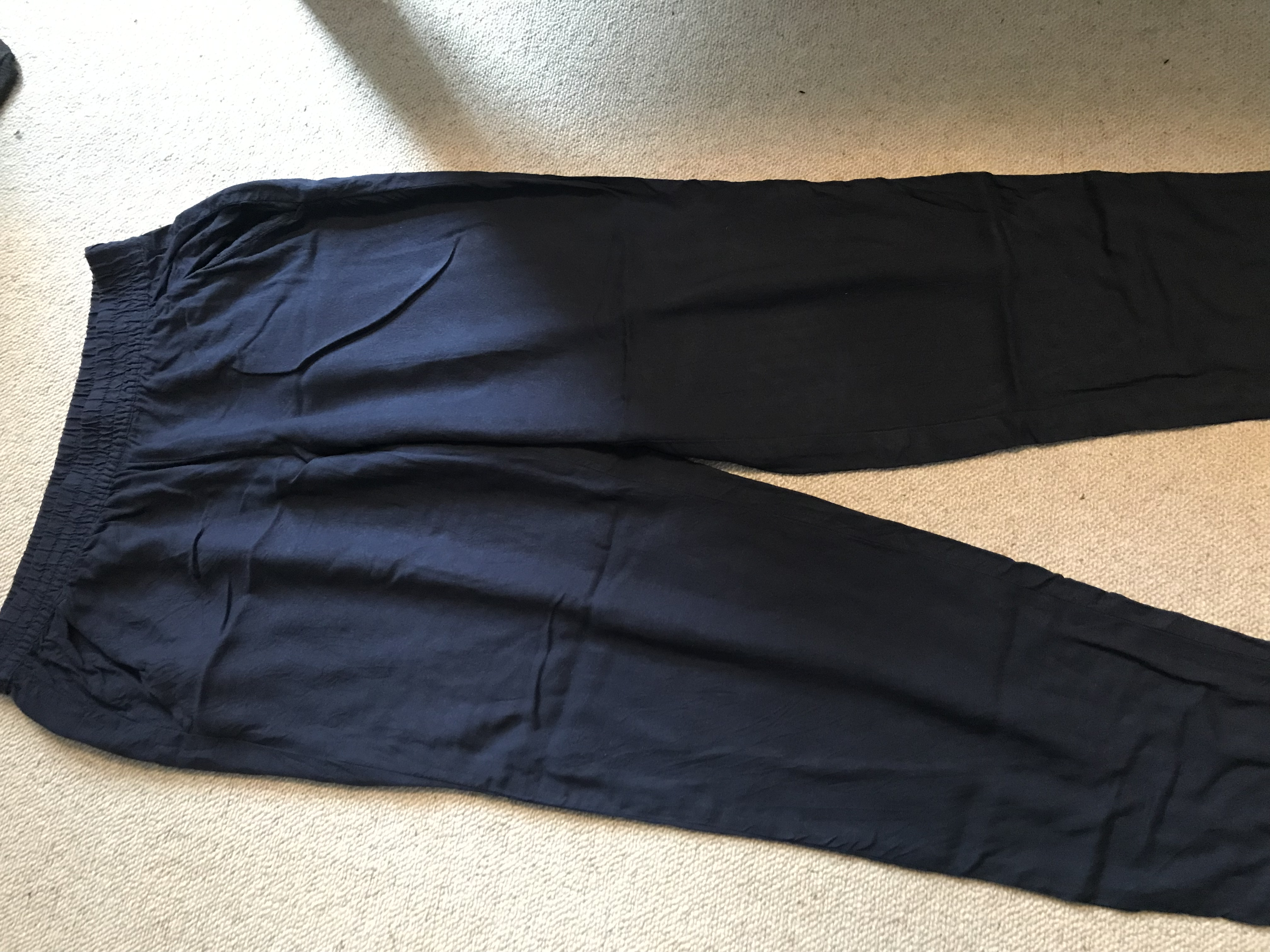 Image of H&M Lightweight Navy Trousers