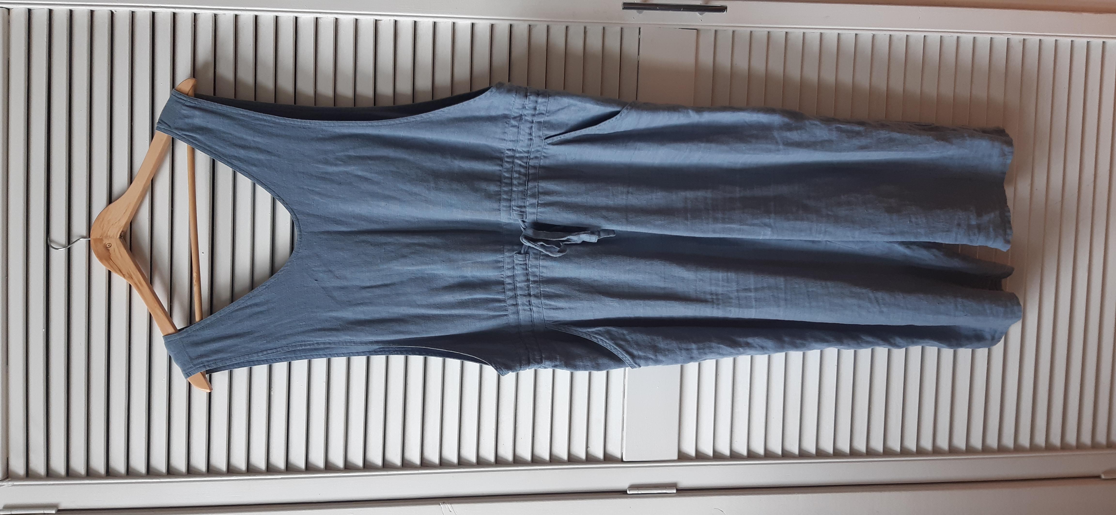 Image of Not Perfect Linen Loose Linen Jumpsuit Size 14/16