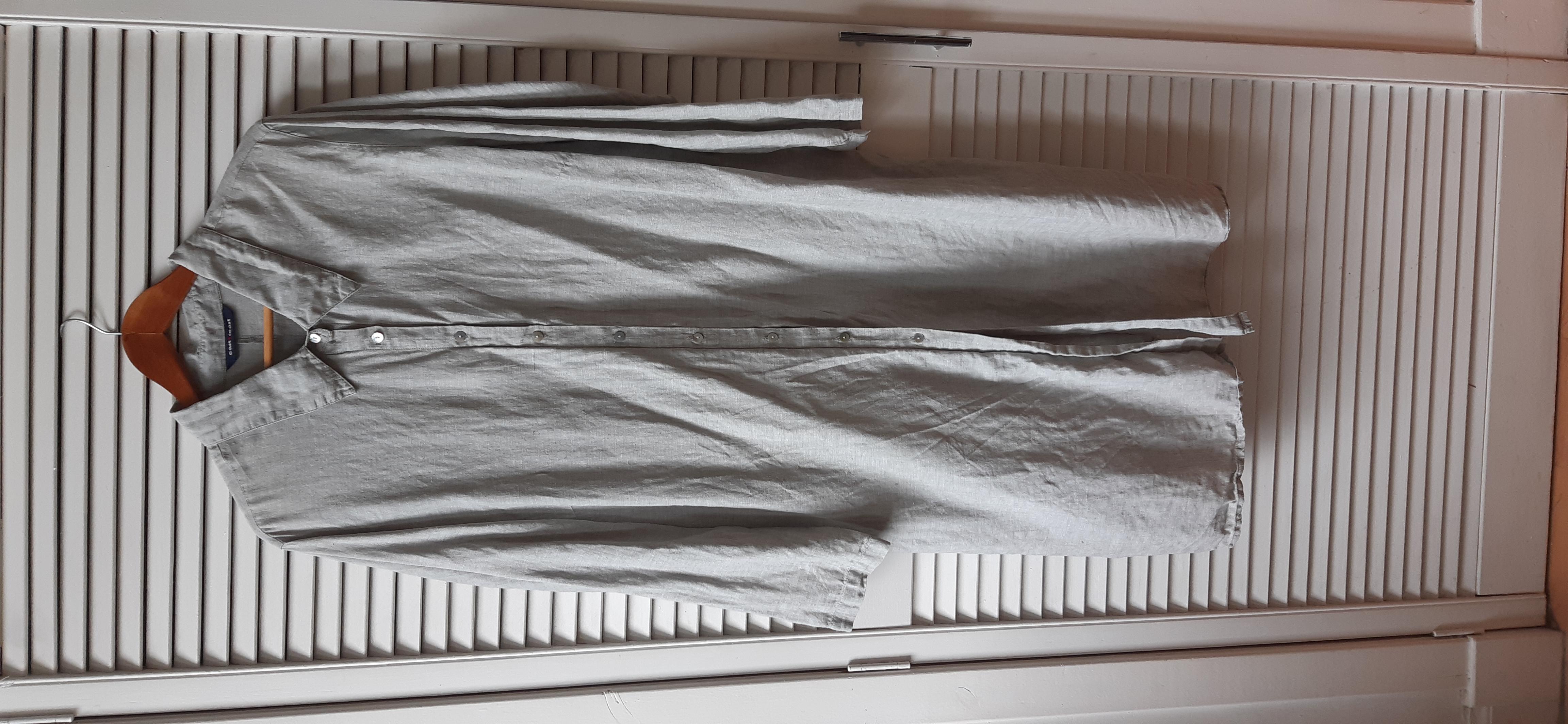 Image of East Coast Linen Shirt Dress