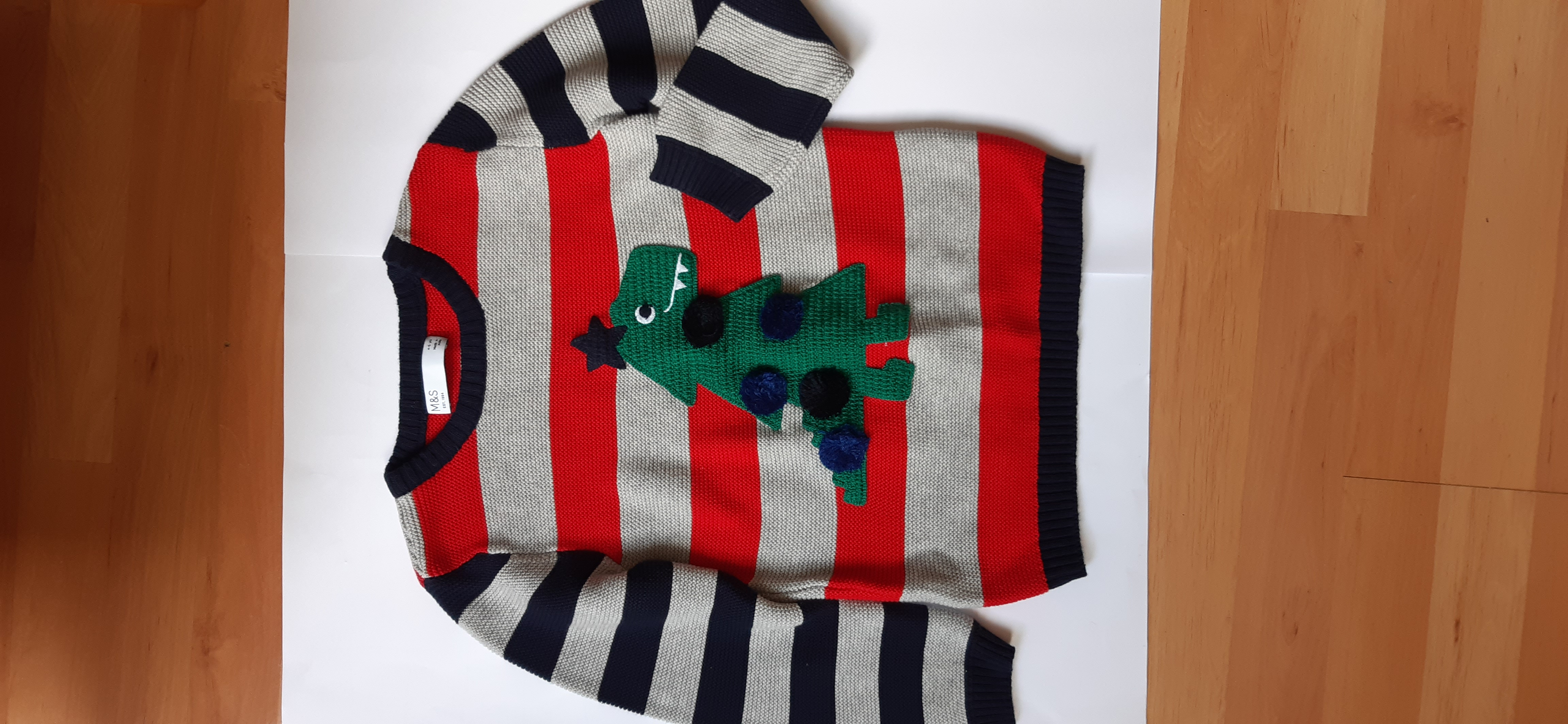 Image of M&S Kids Knitted Christmas Jumper