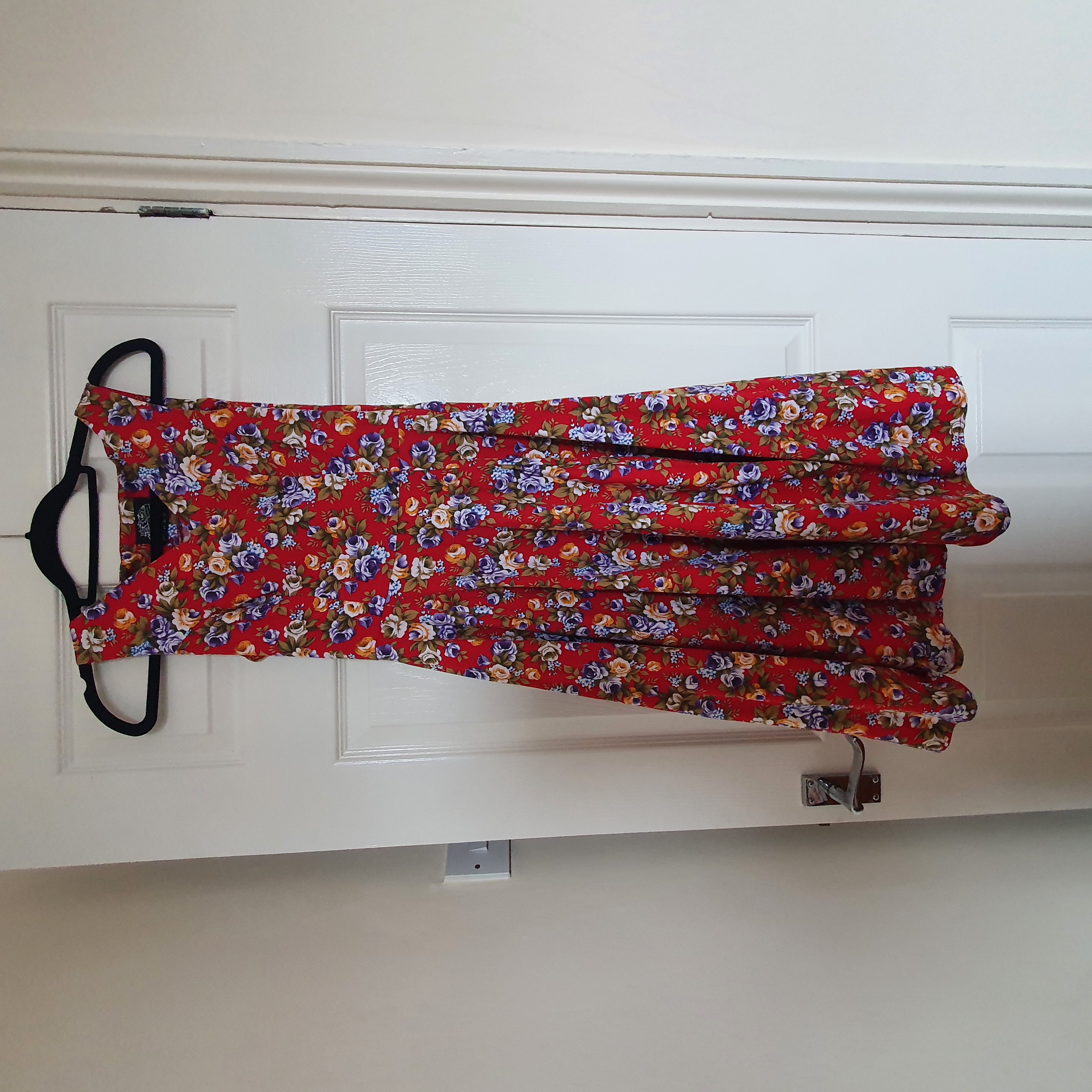 Image of Hearts and Roses Red floral dress