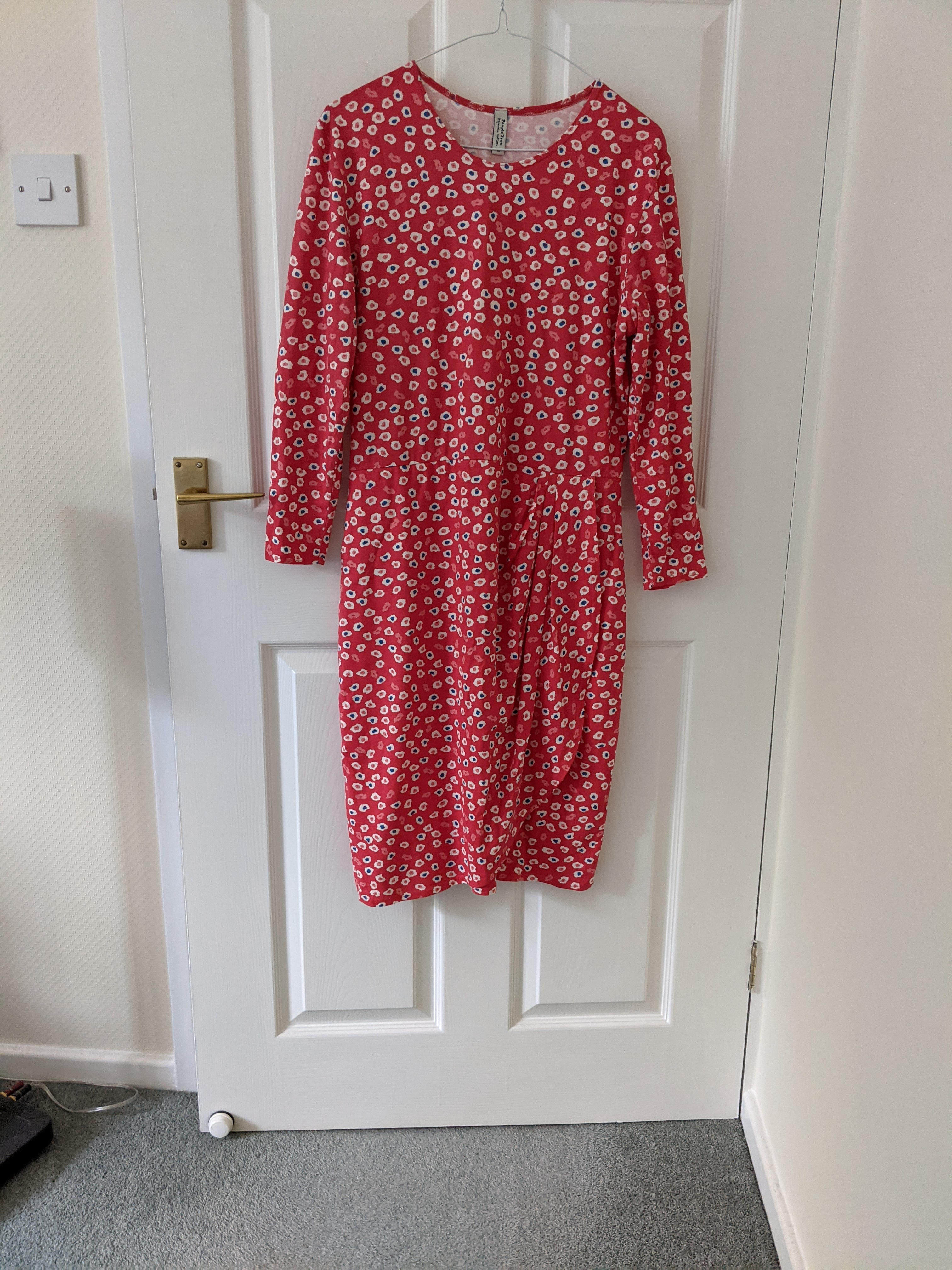 Image of People Tree Dress with wrapover detail