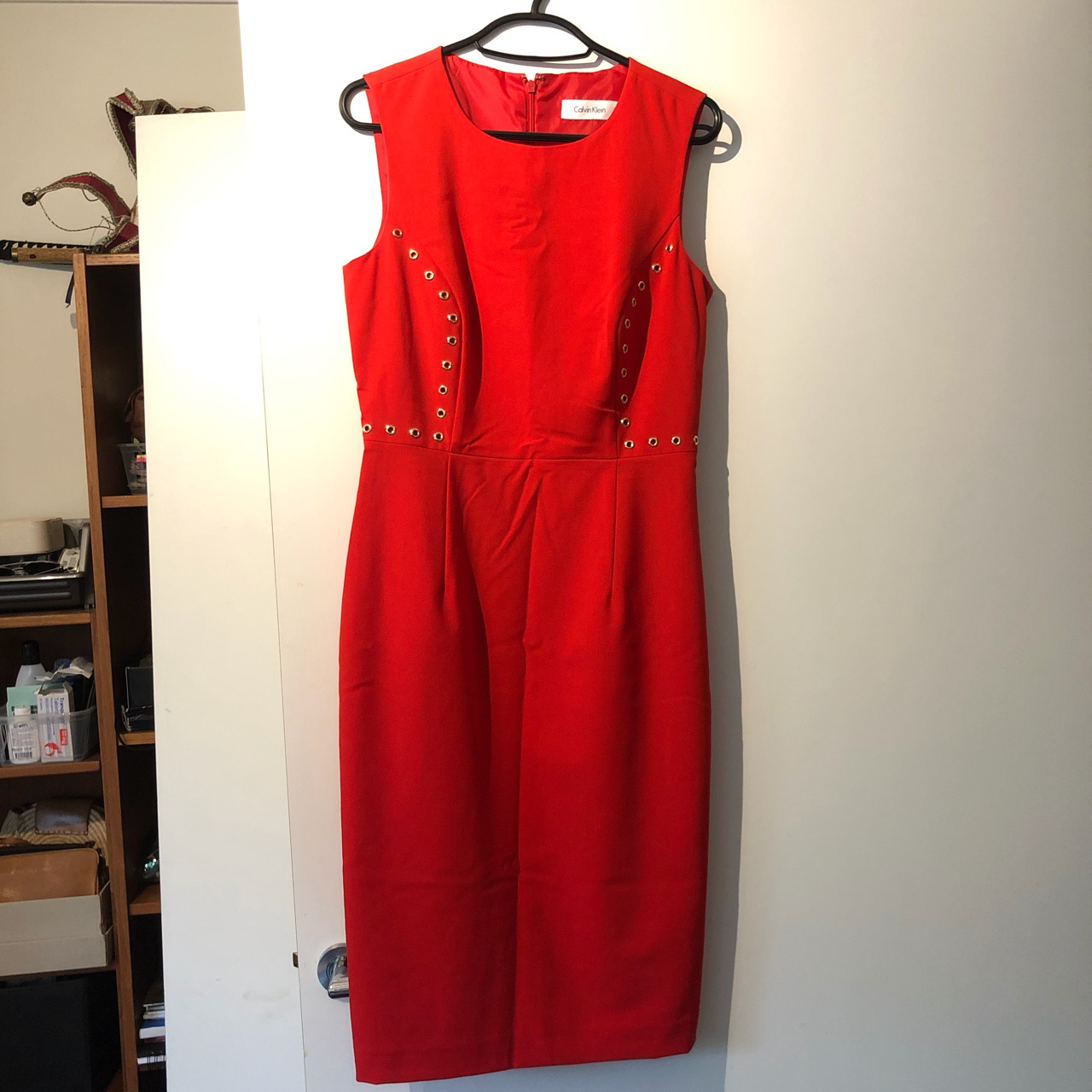 Image of Calvin Klein  Red suit dress