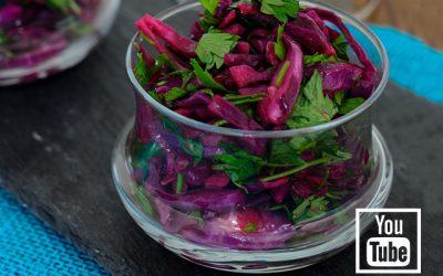 Kırmızı Lahana Salatası (Videolu)