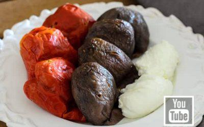 Kuru Patlıcan ve Kuru Biber Dolması (Videolu)