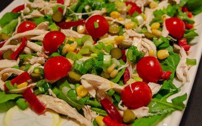Tavuklu Roka Salatası