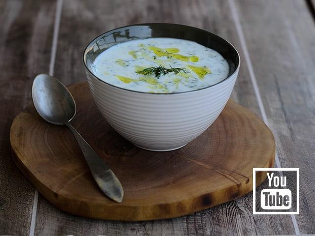 Yoğurtlu Soğuk Kabak Çorbası