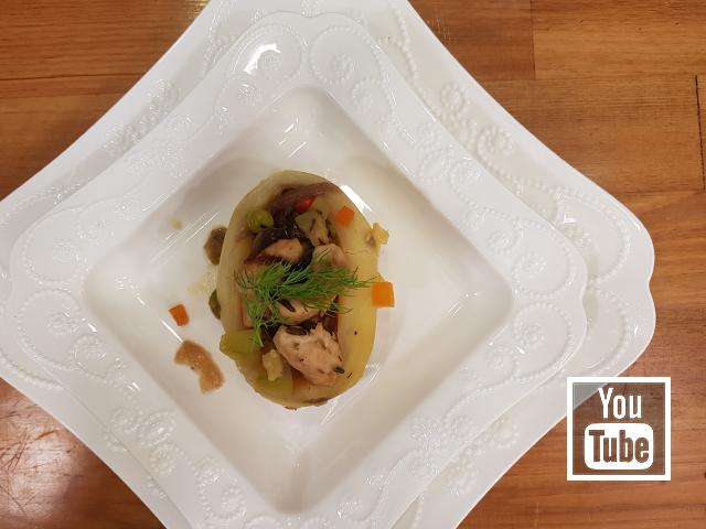 Sebzeli Tavuklu Patates Dolması