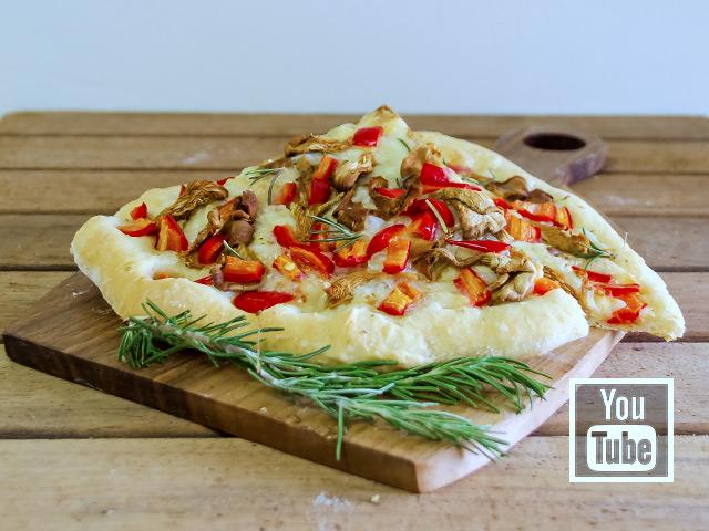 İstiridye Mantarlı Pizza Tarifi