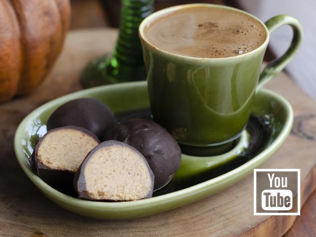Fıstık Ezmeli Çikolata Topları