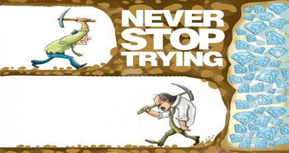 Never Stop Trying!