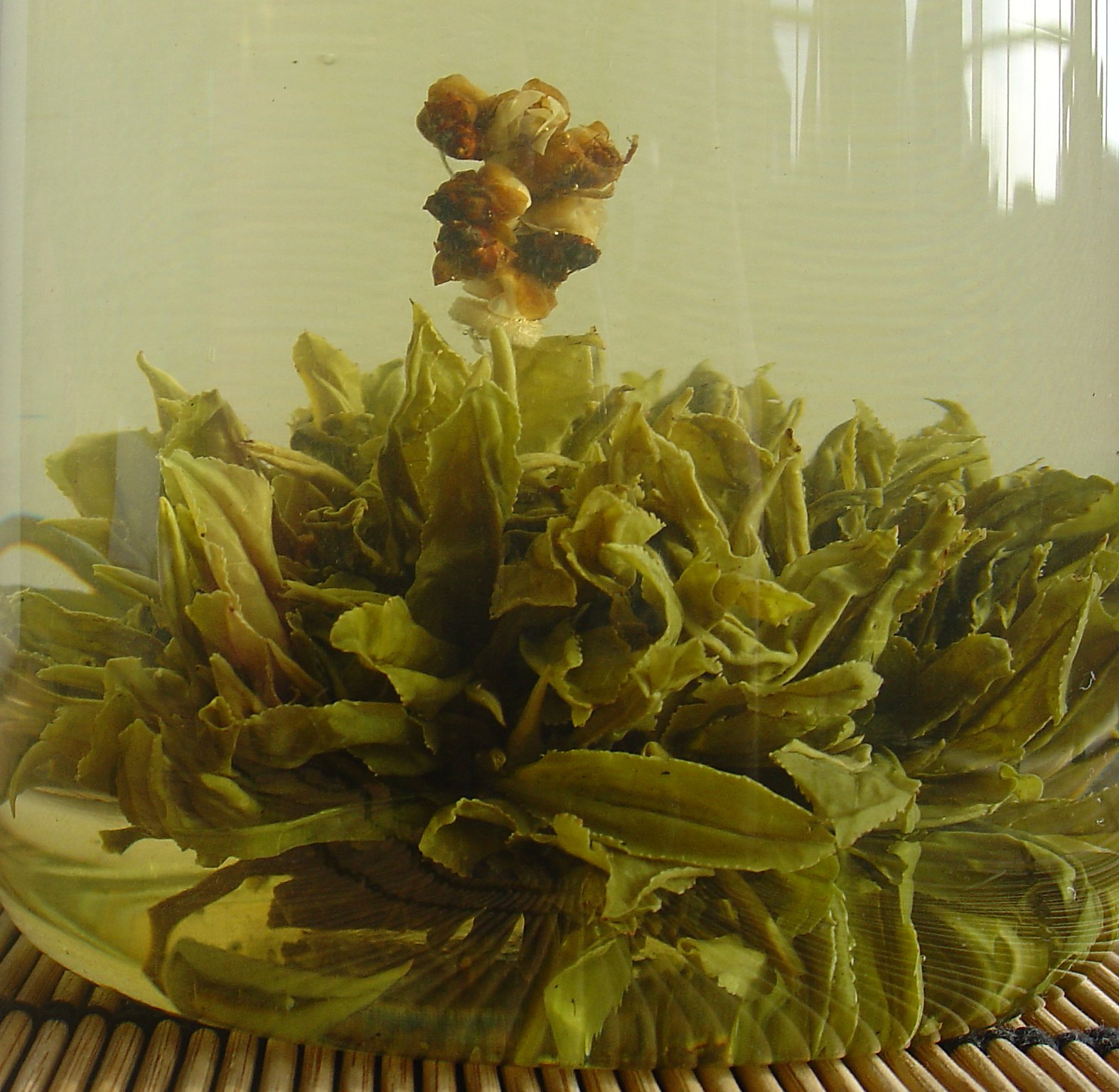 China Yin Yuan Green Tea Opened Out