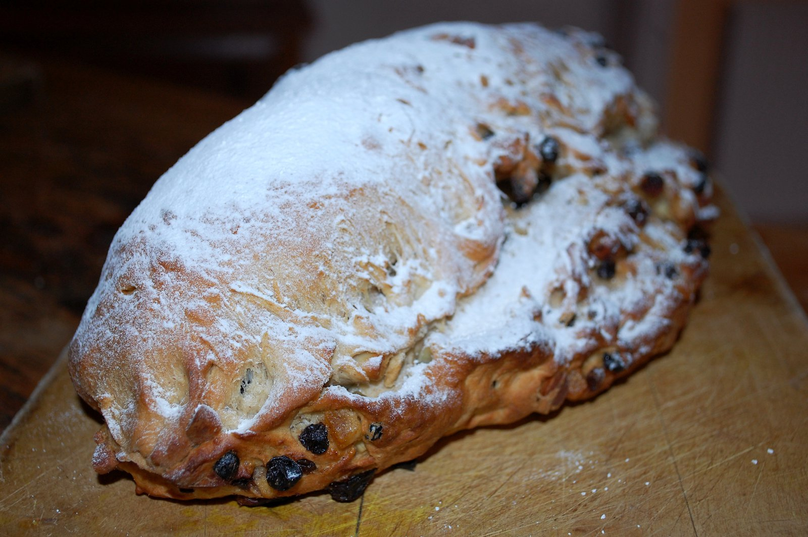 Sprinkle Icing Sugar Over The Baked Stollen