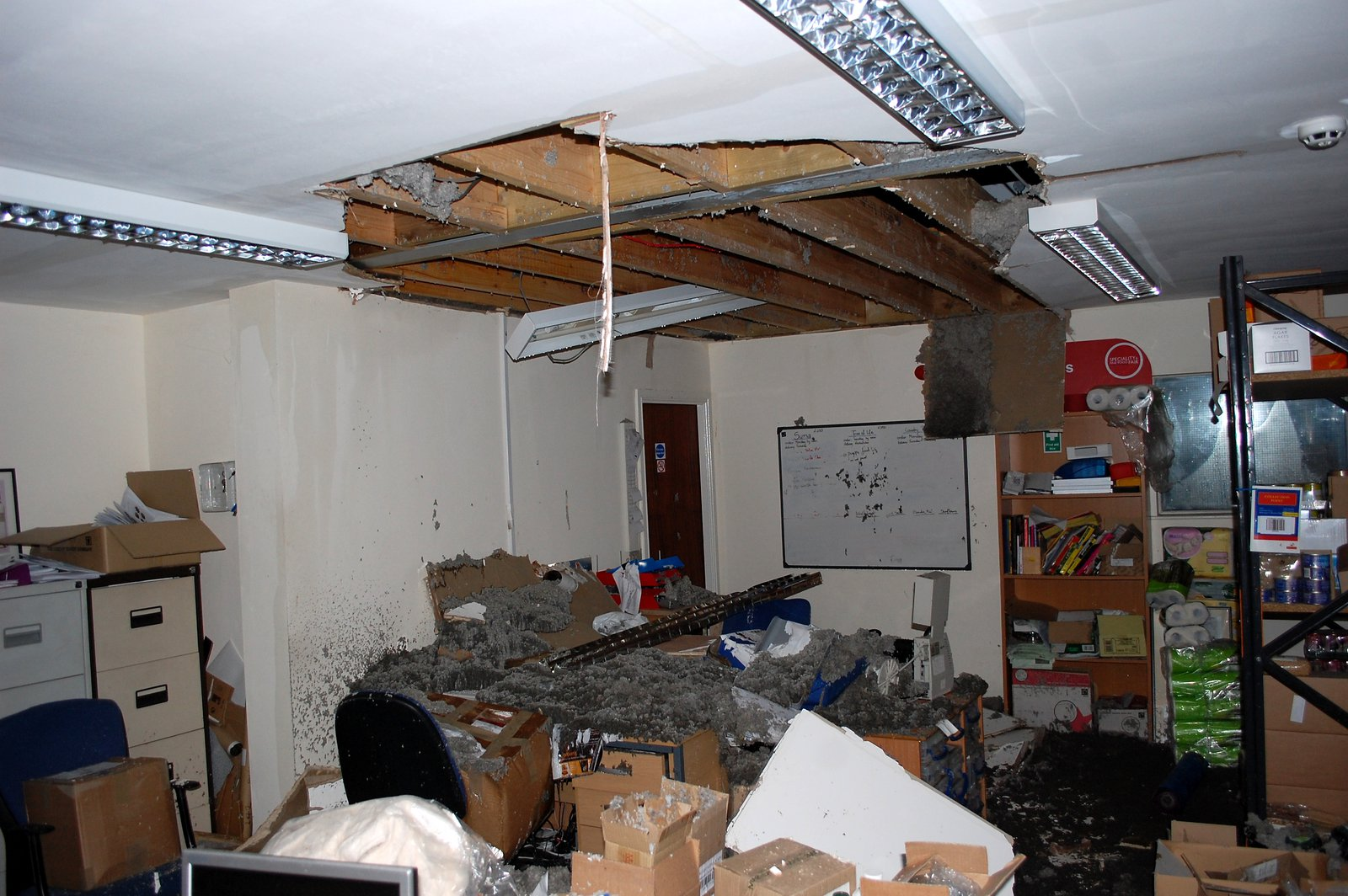 The Roof Caved In At Steenbergs Factory