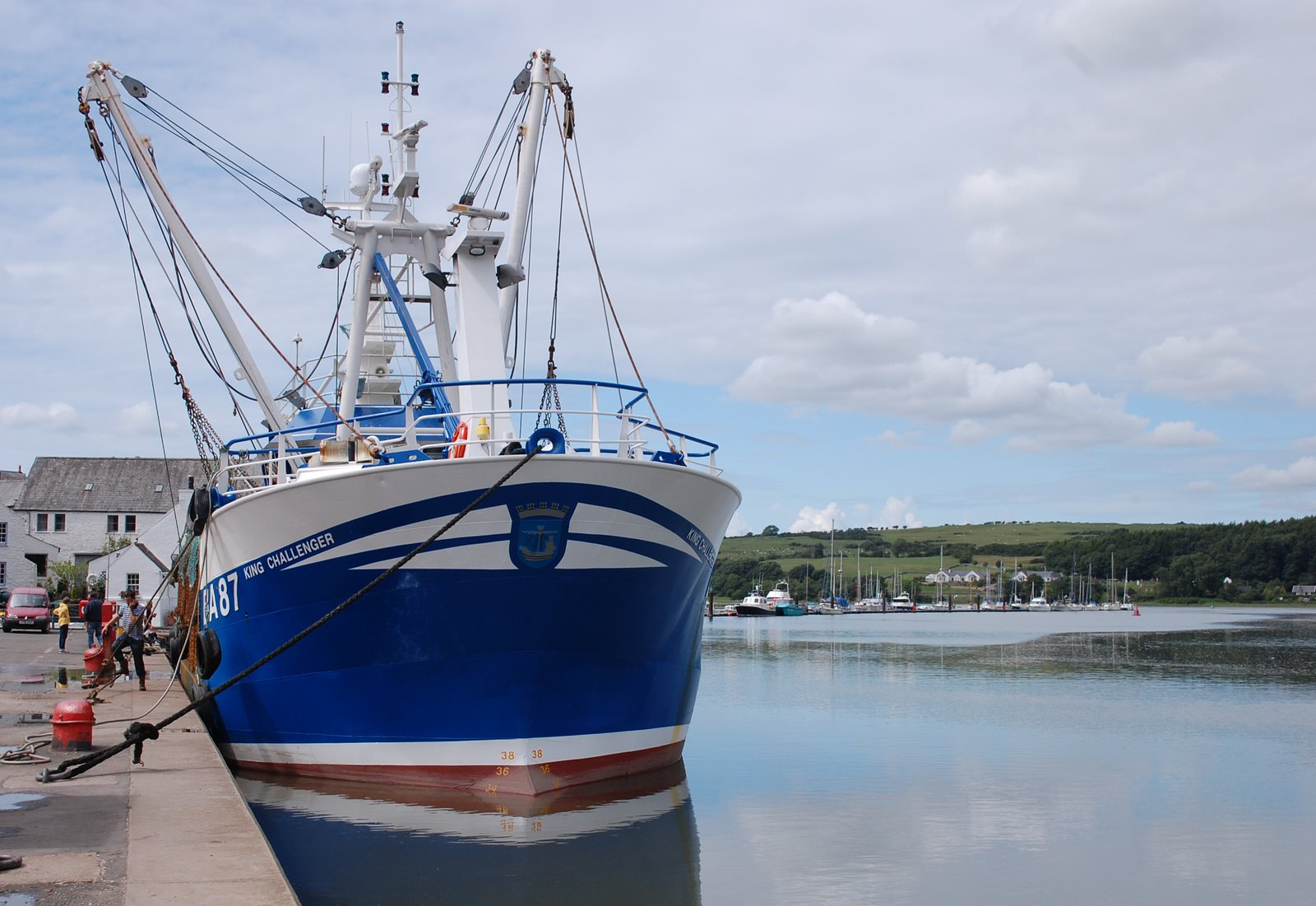 Fishing Boat In Kirkcudbright Harbour