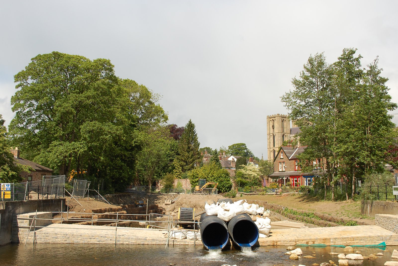 Changes To Alma Weir On River Skell In Ripon